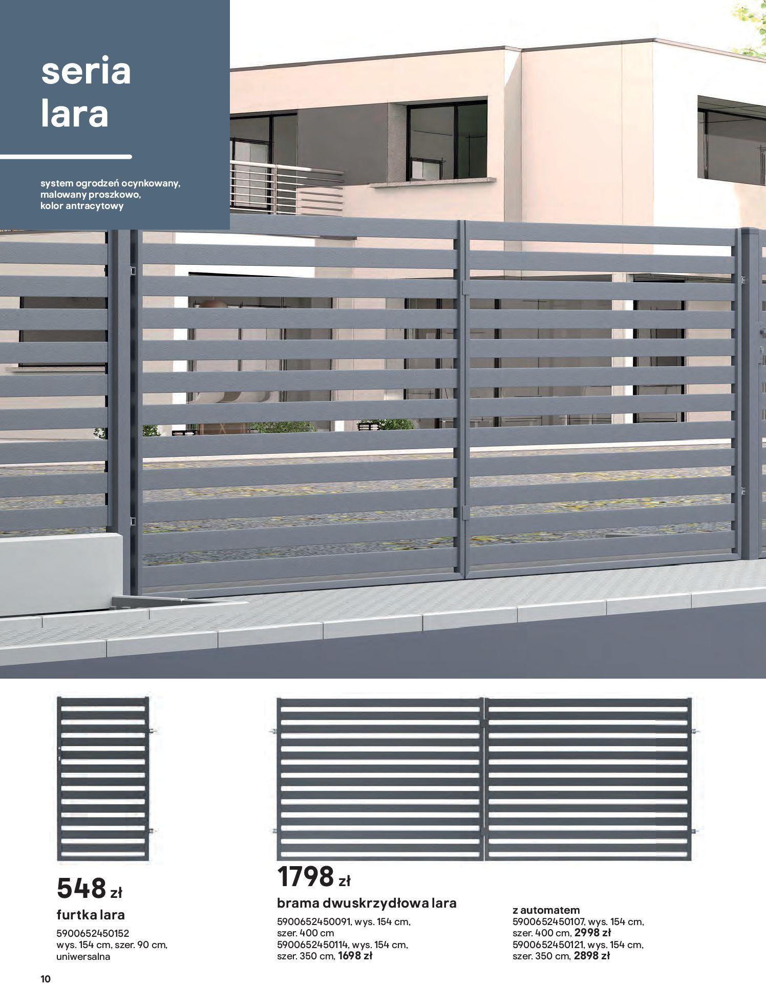 Gazetka Castorama: Przewodnik bramy i ogrodzenia 2021-02-08 page-10