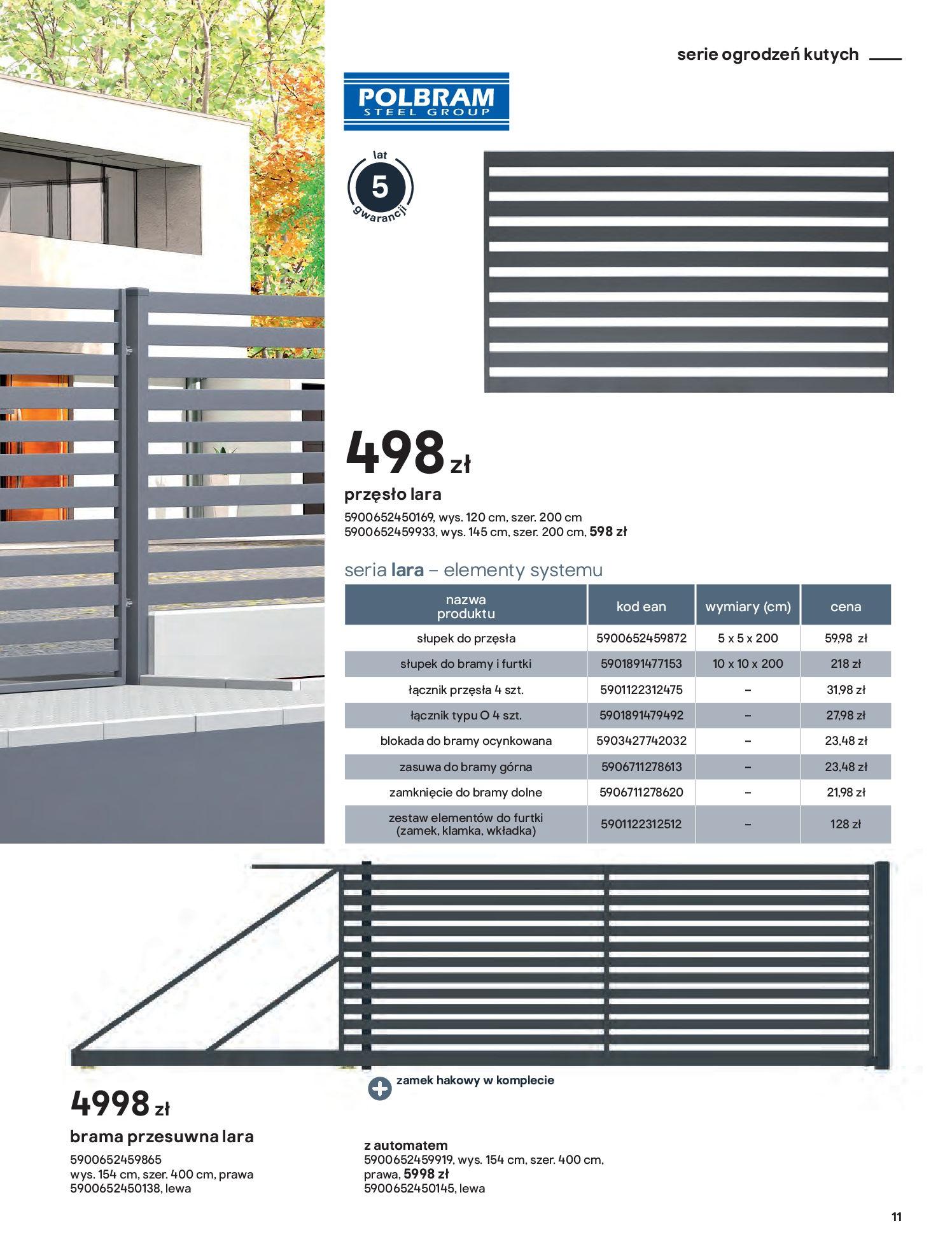 Gazetka Castorama: Przewodnik bramy i ogrodzenia 2021-02-08 page-11