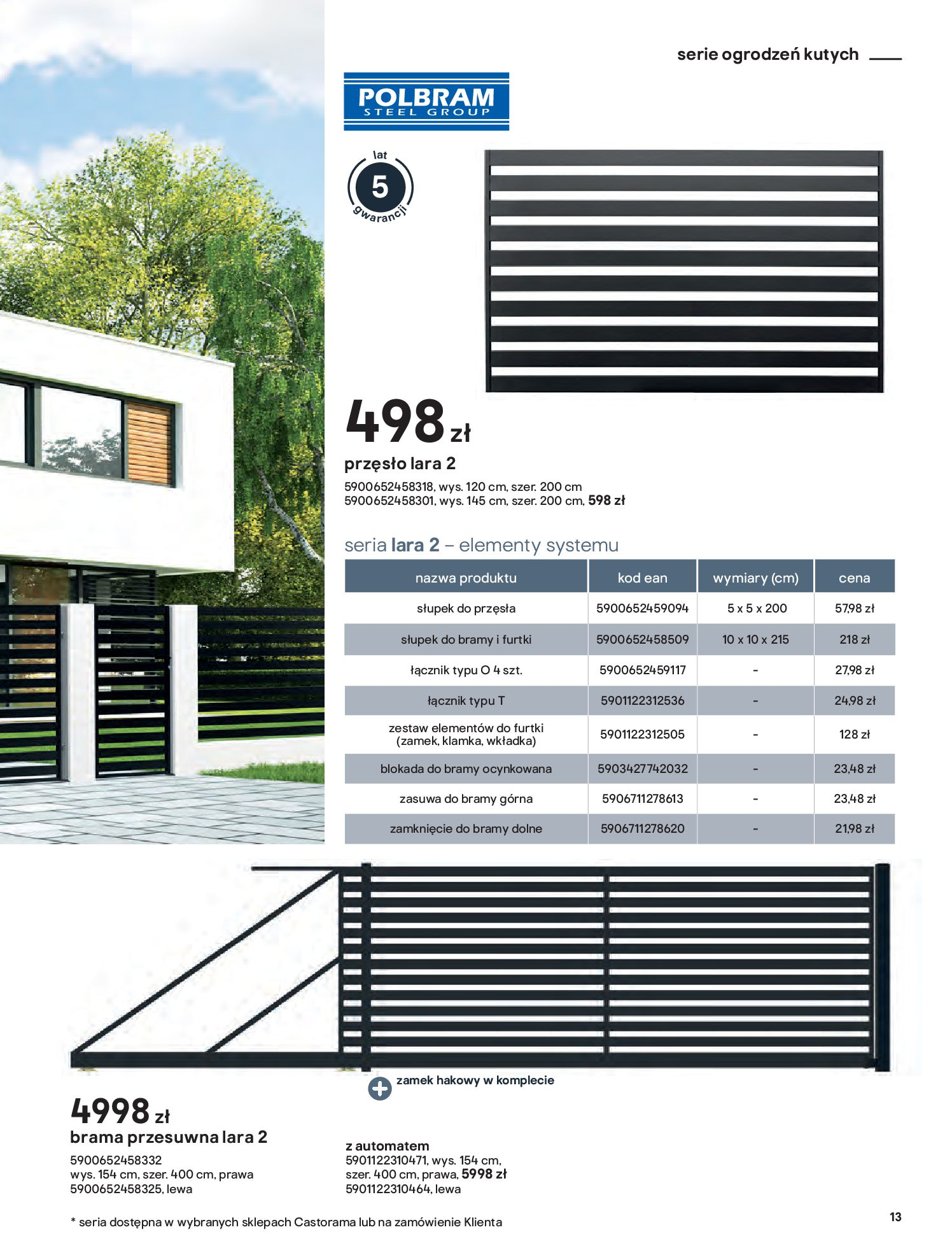 Gazetka Castorama: Przewodnik bramy i ogrodzenia 2021-02-08 page-13