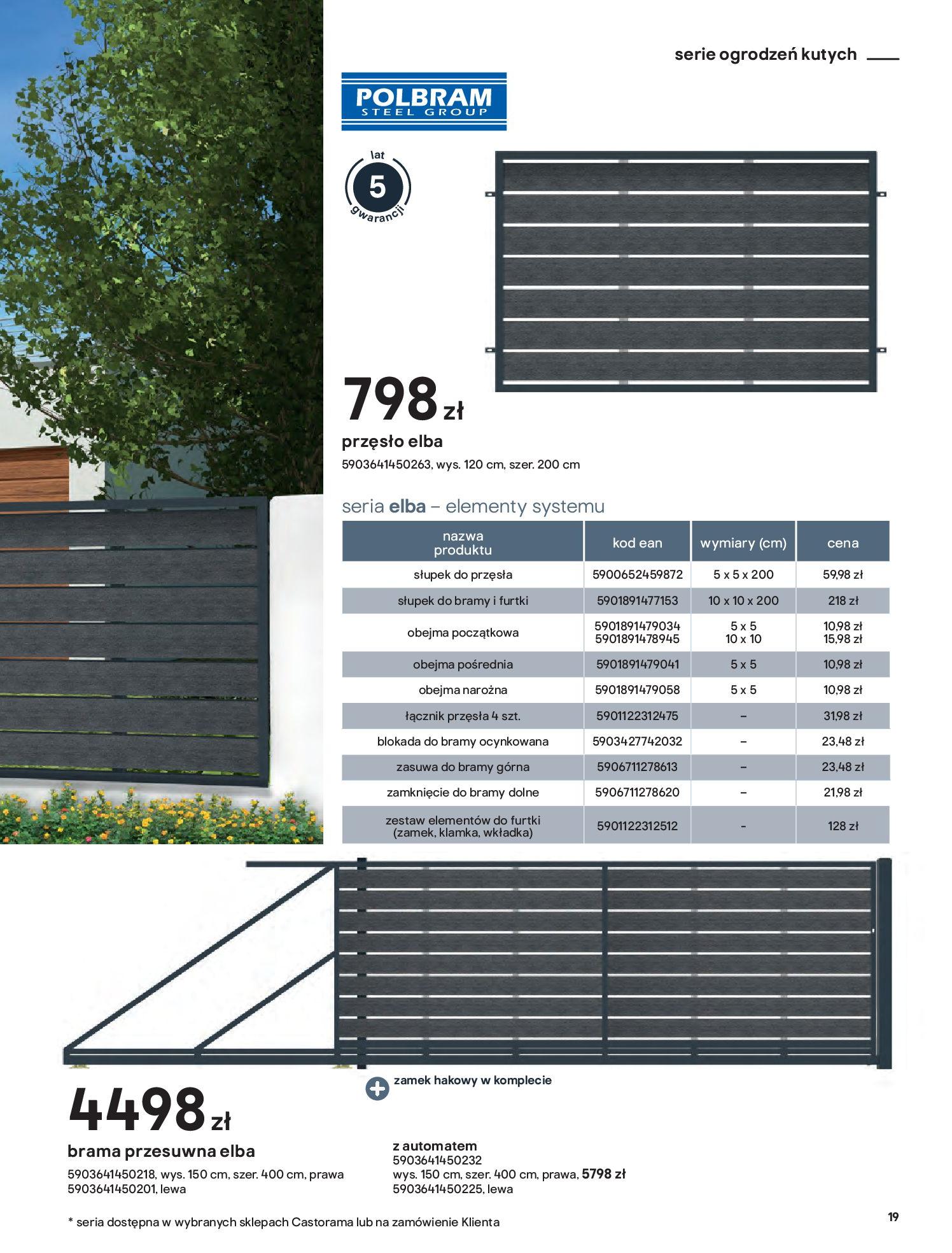 Gazetka Castorama: Przewodnik bramy i ogrodzenia 2021-02-08 page-19
