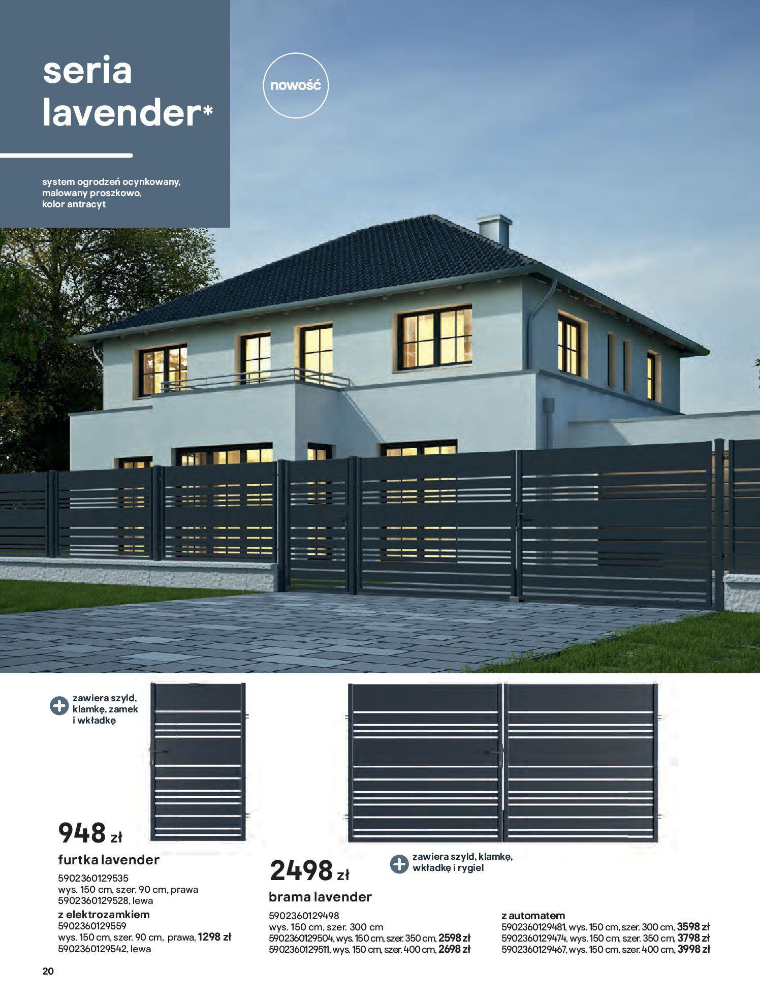 Gazetka Castorama: Przewodnik bramy i ogrodzenia 2021-02-08 page-20