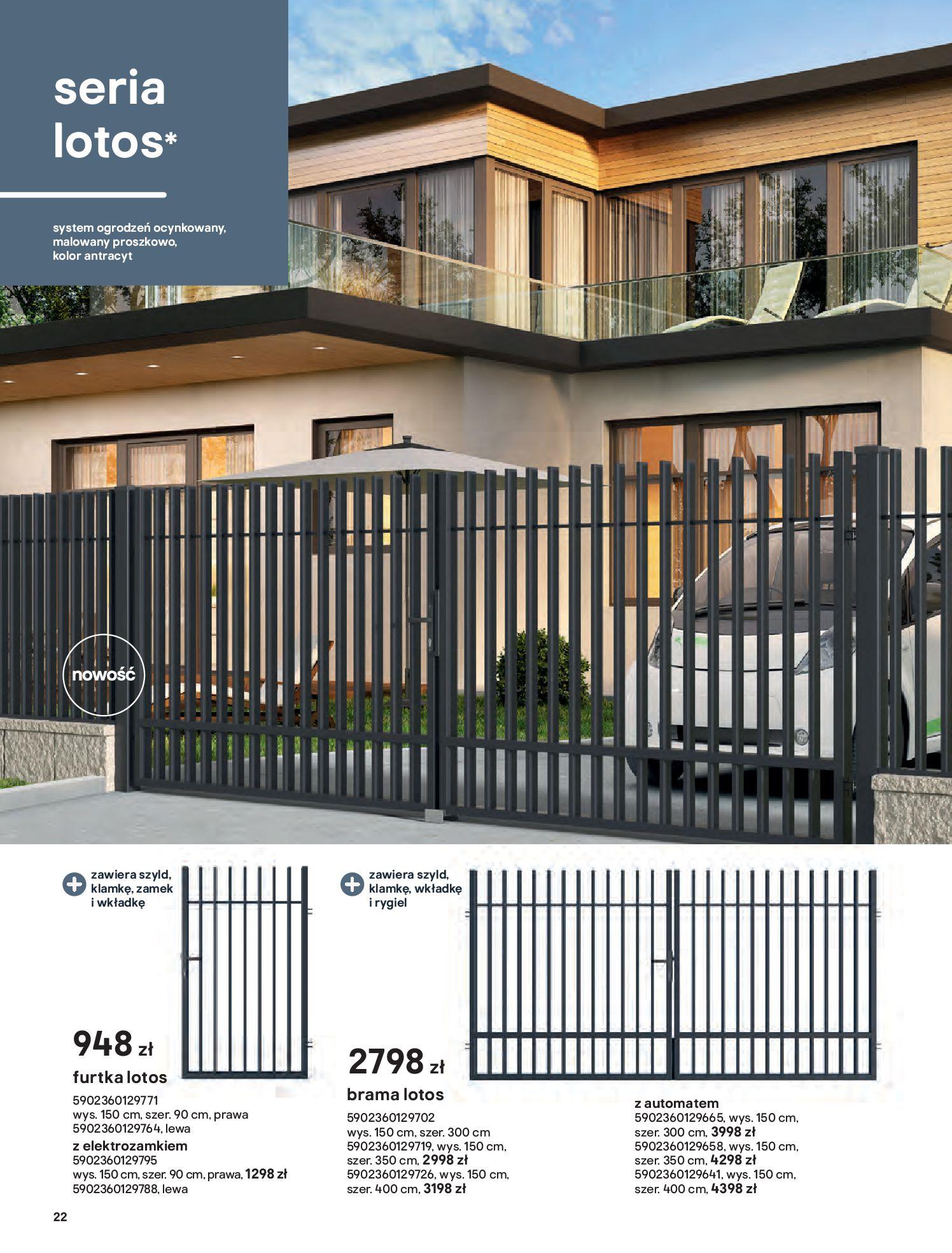 Gazetka Castorama: Przewodnik bramy i ogrodzenia 2021-02-08 page-22