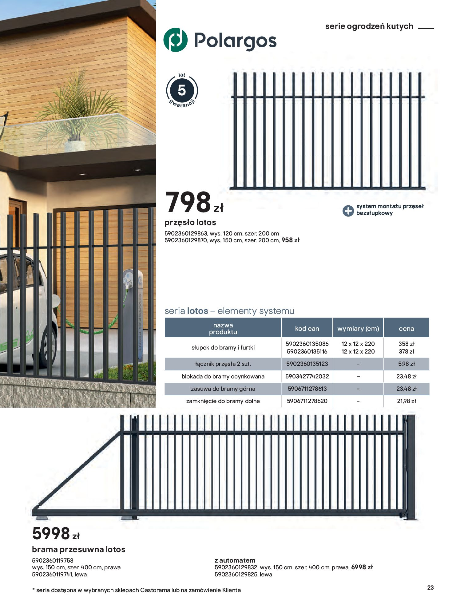 Gazetka Castorama: Przewodnik bramy i ogrodzenia 2021-02-08 page-23