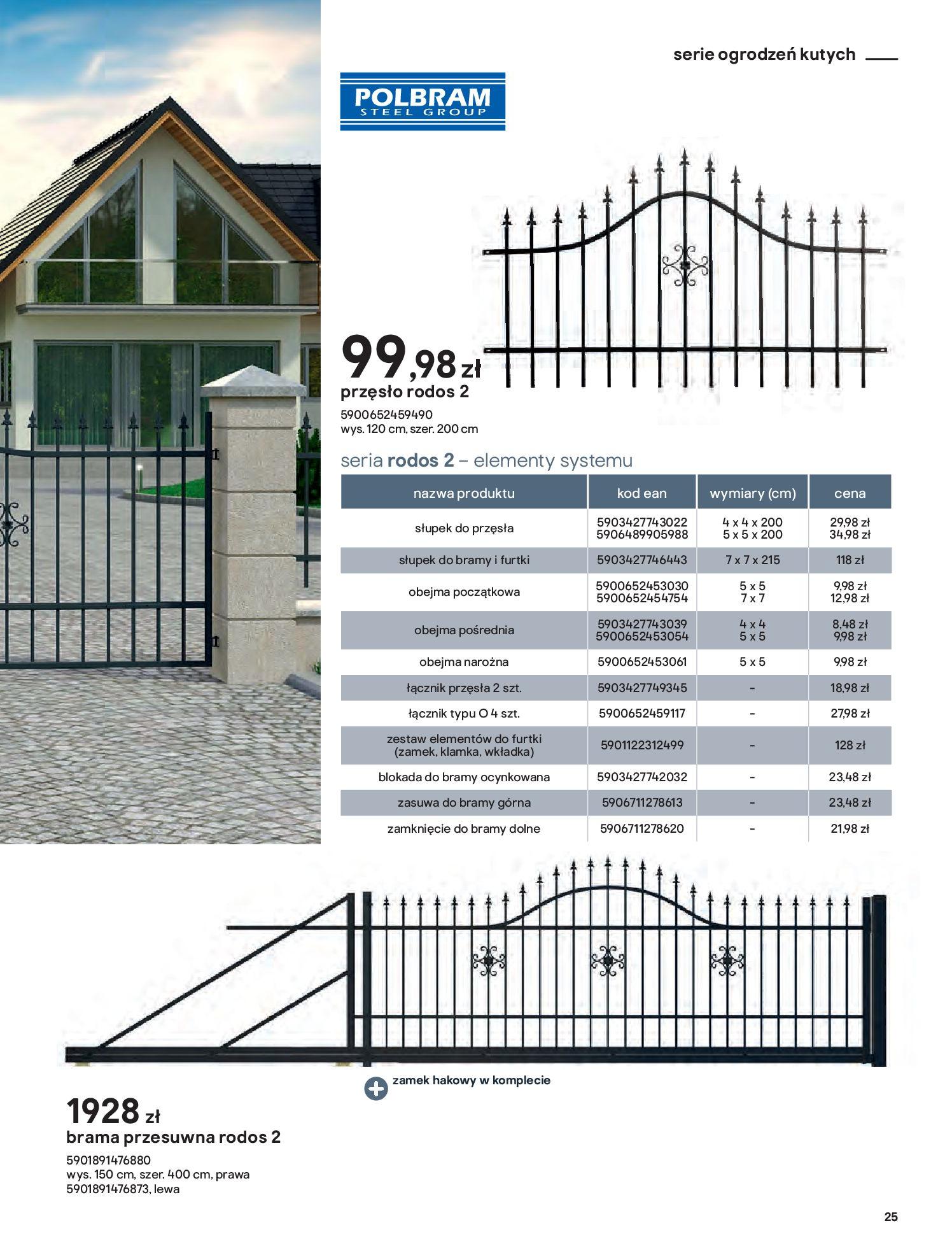 Gazetka Castorama: Przewodnik bramy i ogrodzenia 2021-02-08 page-25