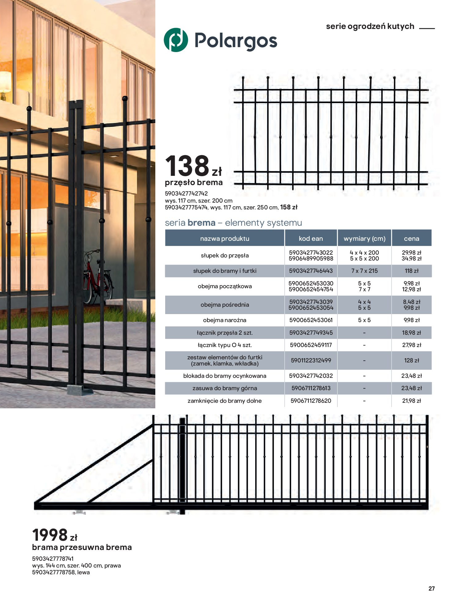 Gazetka Castorama: Przewodnik bramy i ogrodzenia 2021-02-08 page-27