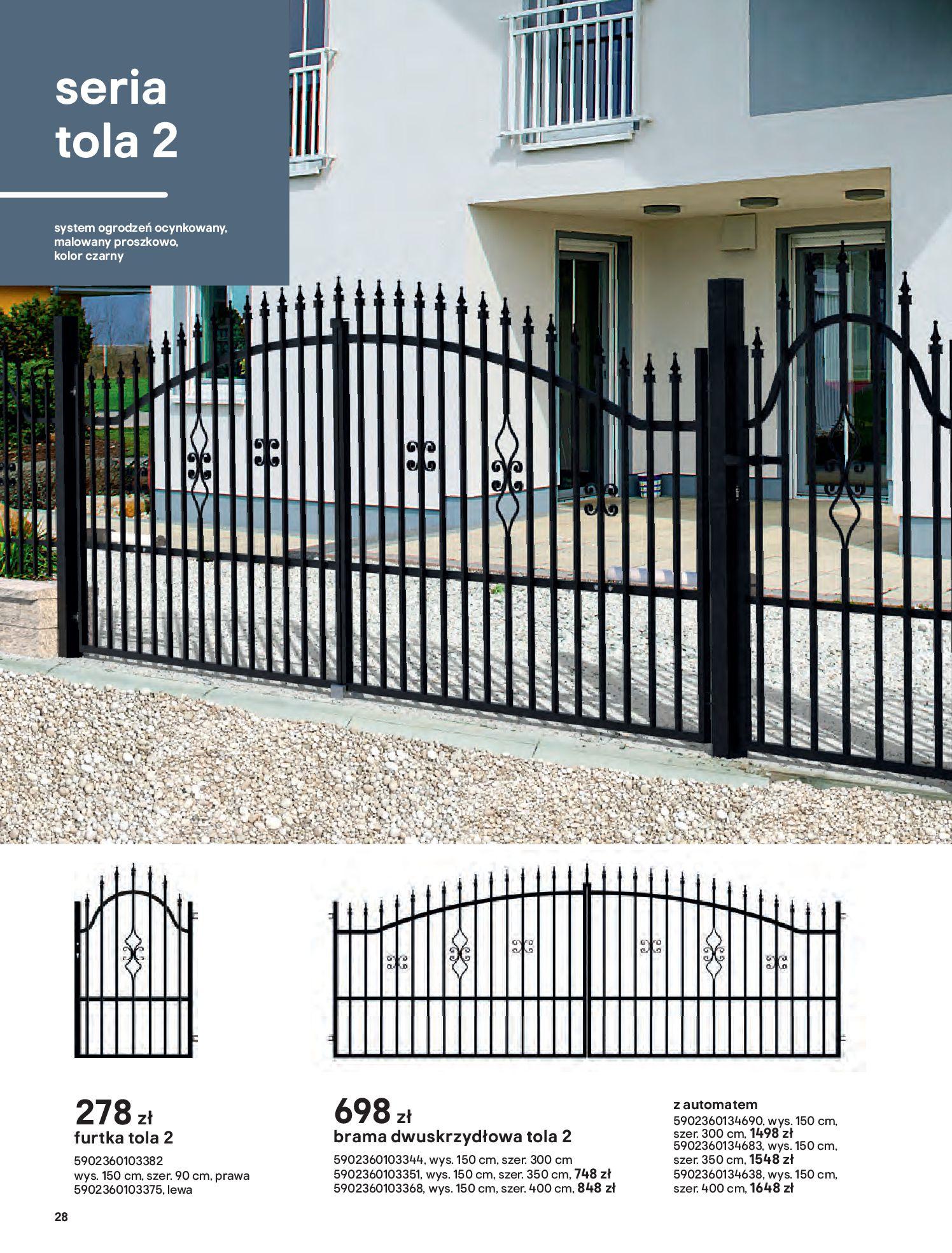 Gazetka Castorama: Przewodnik bramy i ogrodzenia 2021-02-08 page-28