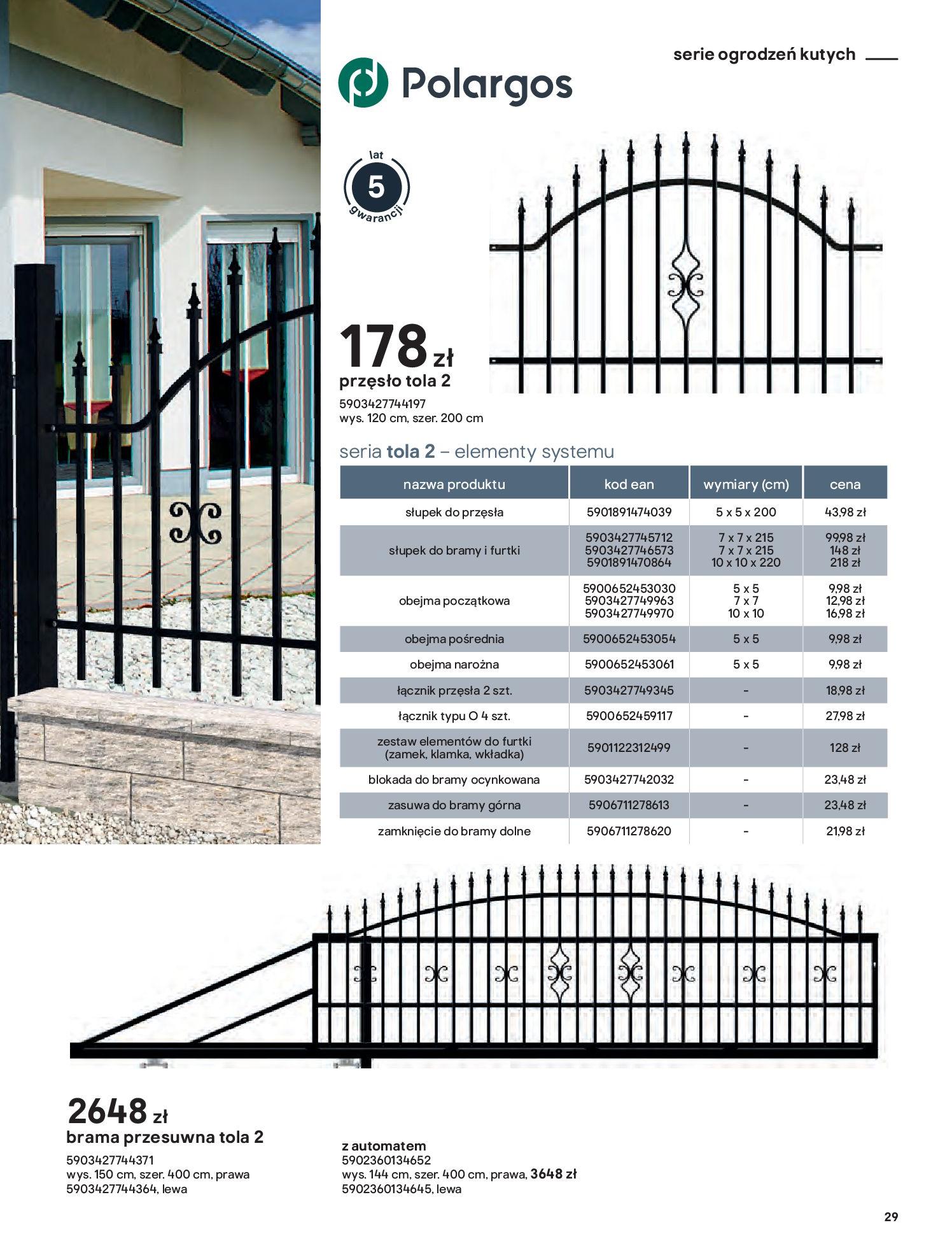 Gazetka Castorama: Przewodnik bramy i ogrodzenia 2021-02-08 page-29