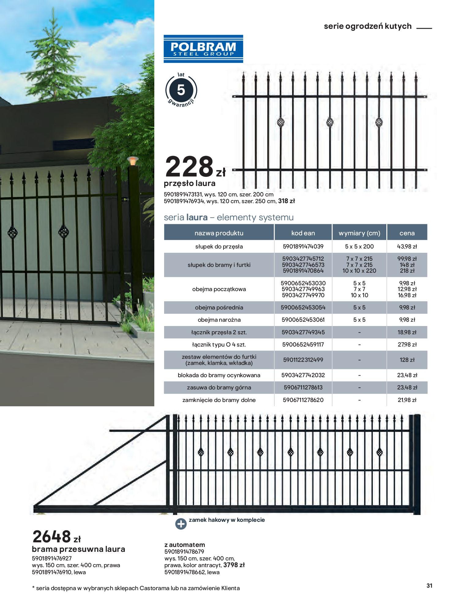 Gazetka Castorama: Przewodnik bramy i ogrodzenia 2021-02-08 page-31