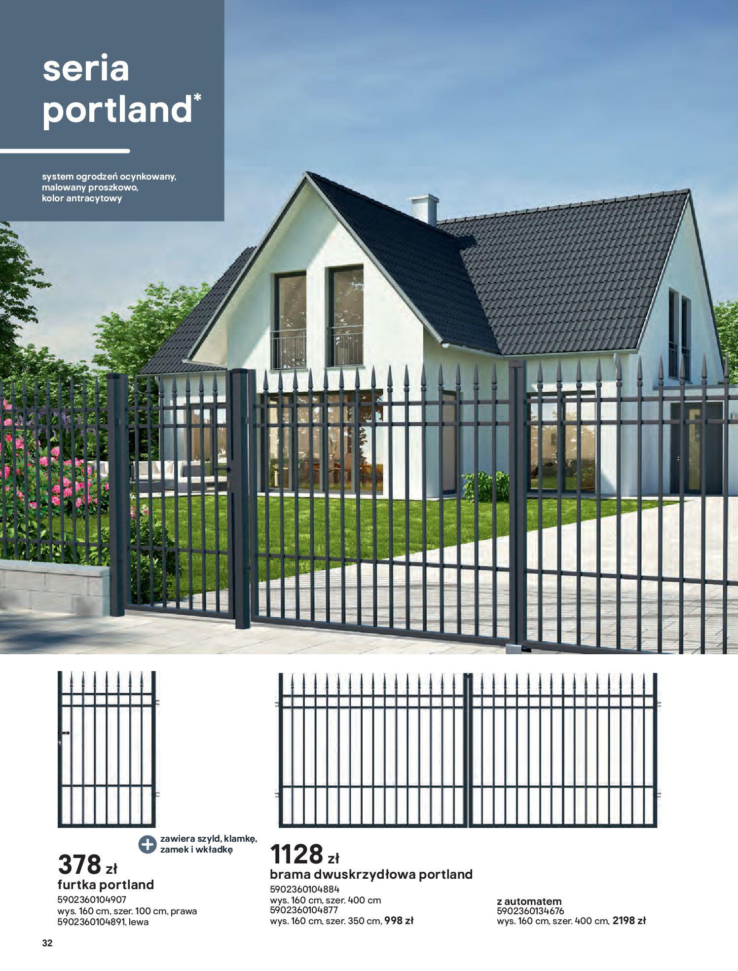 Gazetka Castorama: Przewodnik bramy i ogrodzenia 2021-02-08 page-32