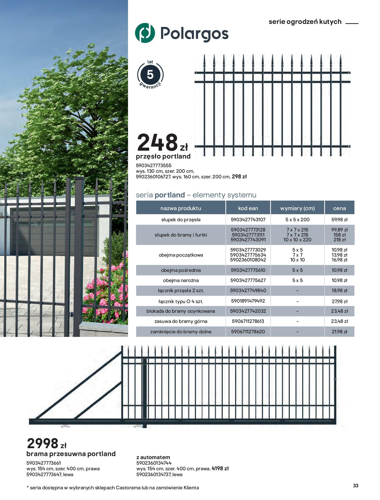 Gazetka Castorama: Przewodnik bramy i ogrodzenia 2021-02-08 page-33