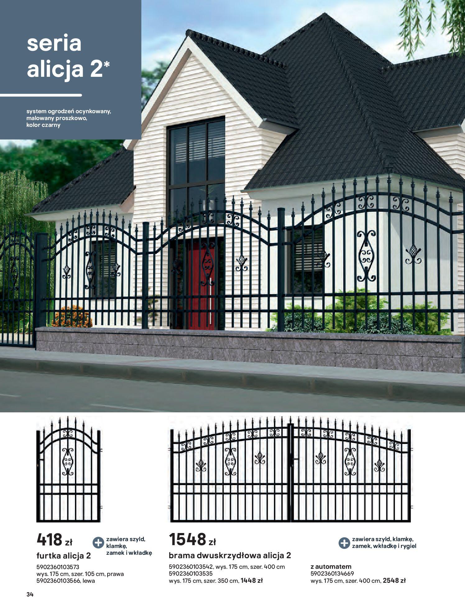 Gazetka Castorama: Przewodnik bramy i ogrodzenia 2021-02-08 page-34