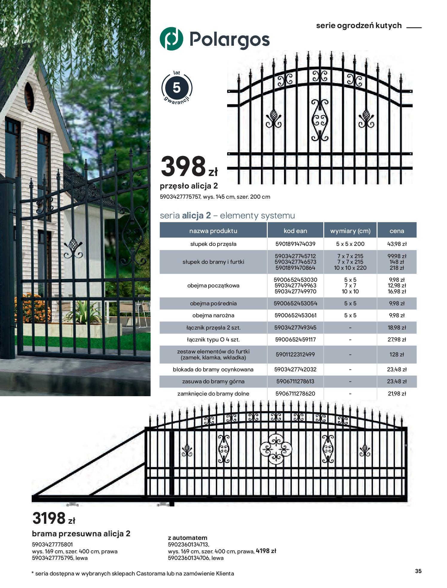 Gazetka Castorama: Przewodnik bramy i ogrodzenia 2021-02-08 page-35