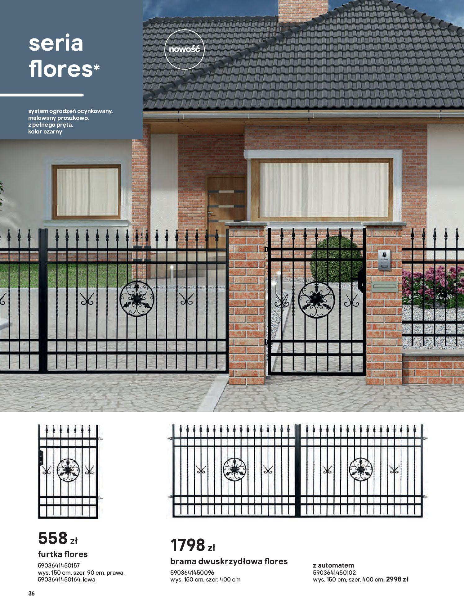 Gazetka Castorama: Przewodnik bramy i ogrodzenia 2021-02-08 page-36