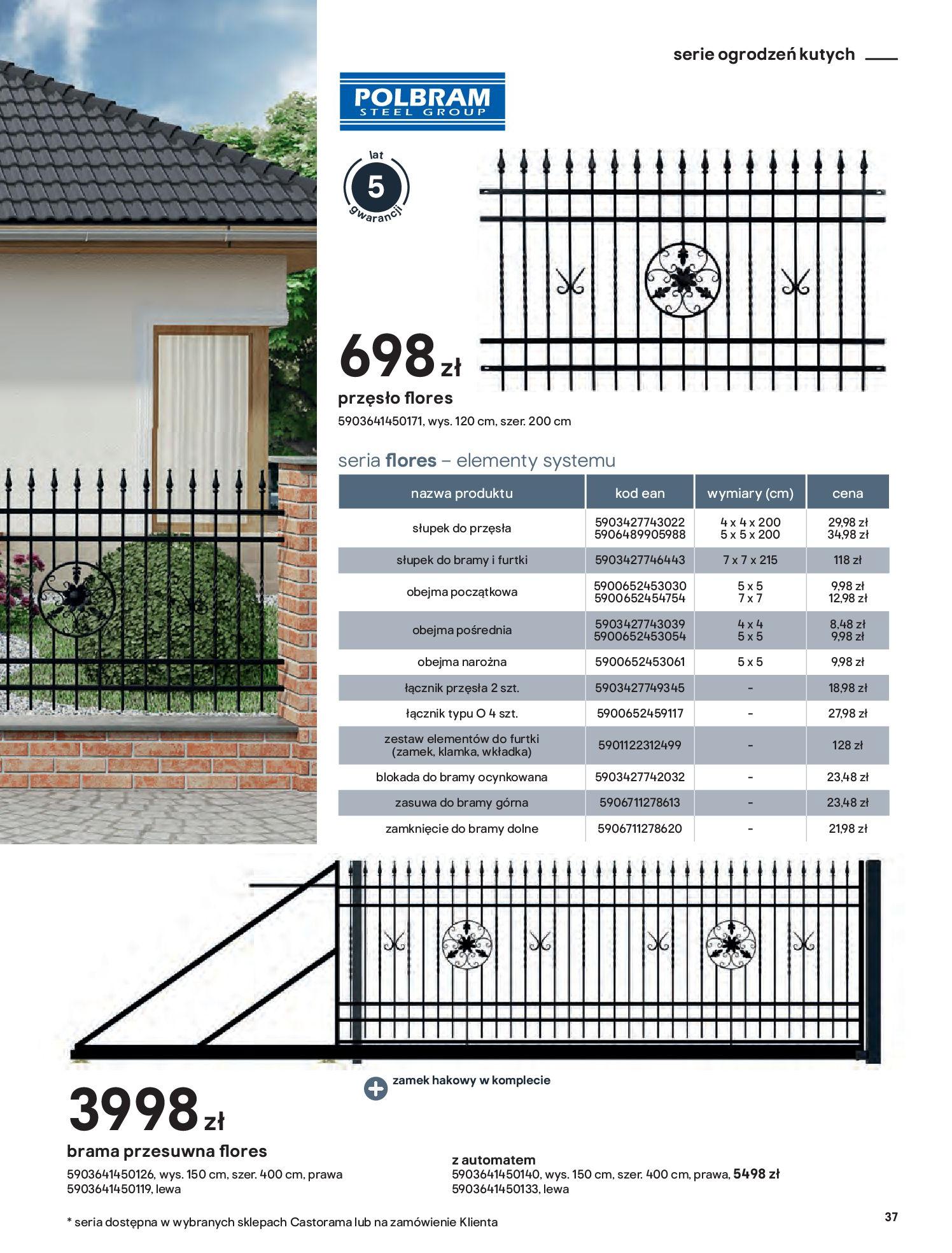 Gazetka Castorama: Przewodnik bramy i ogrodzenia 2021-02-08 page-37