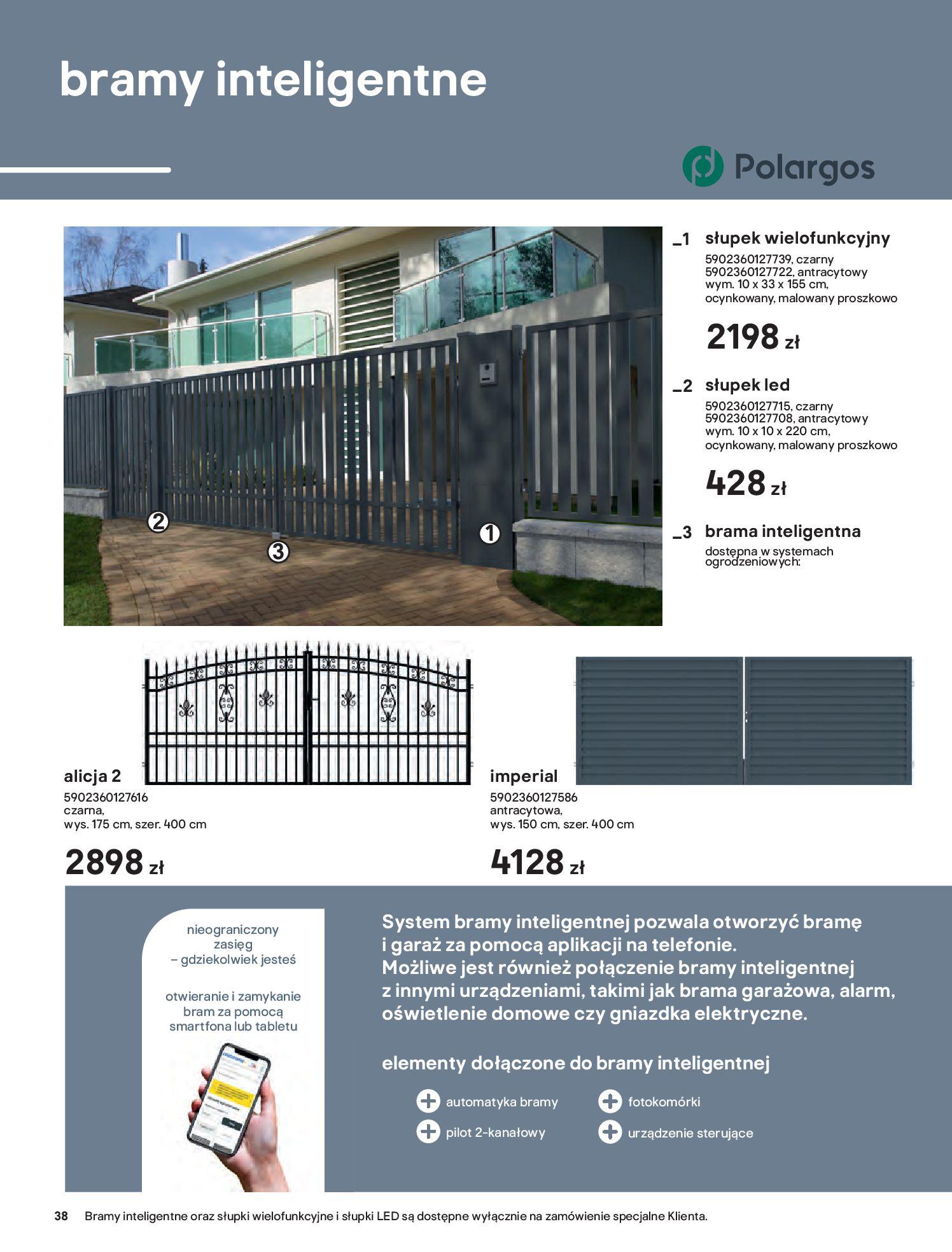Gazetka Castorama: Przewodnik bramy i ogrodzenia 2021-02-08 page-38
