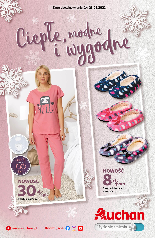 Gazetka Auchan: Ciepłe, modne i wygodne Hipermarkety 2021-01-14 page-1