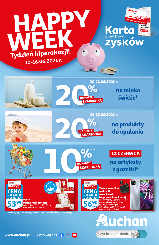 Auchan:  Gazetka Auchan - Happy Week 09.06.2021