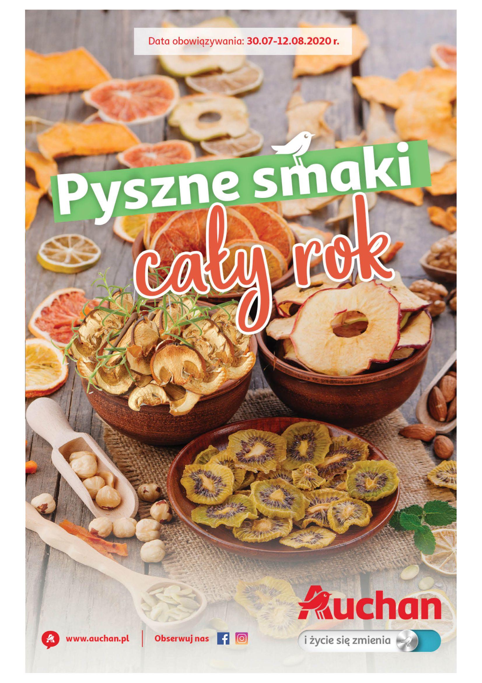 Gazetka Auchan - Suszarki do grzybów+przetwory Hipermarkety-29.07.2020-12.08.2020-page-1