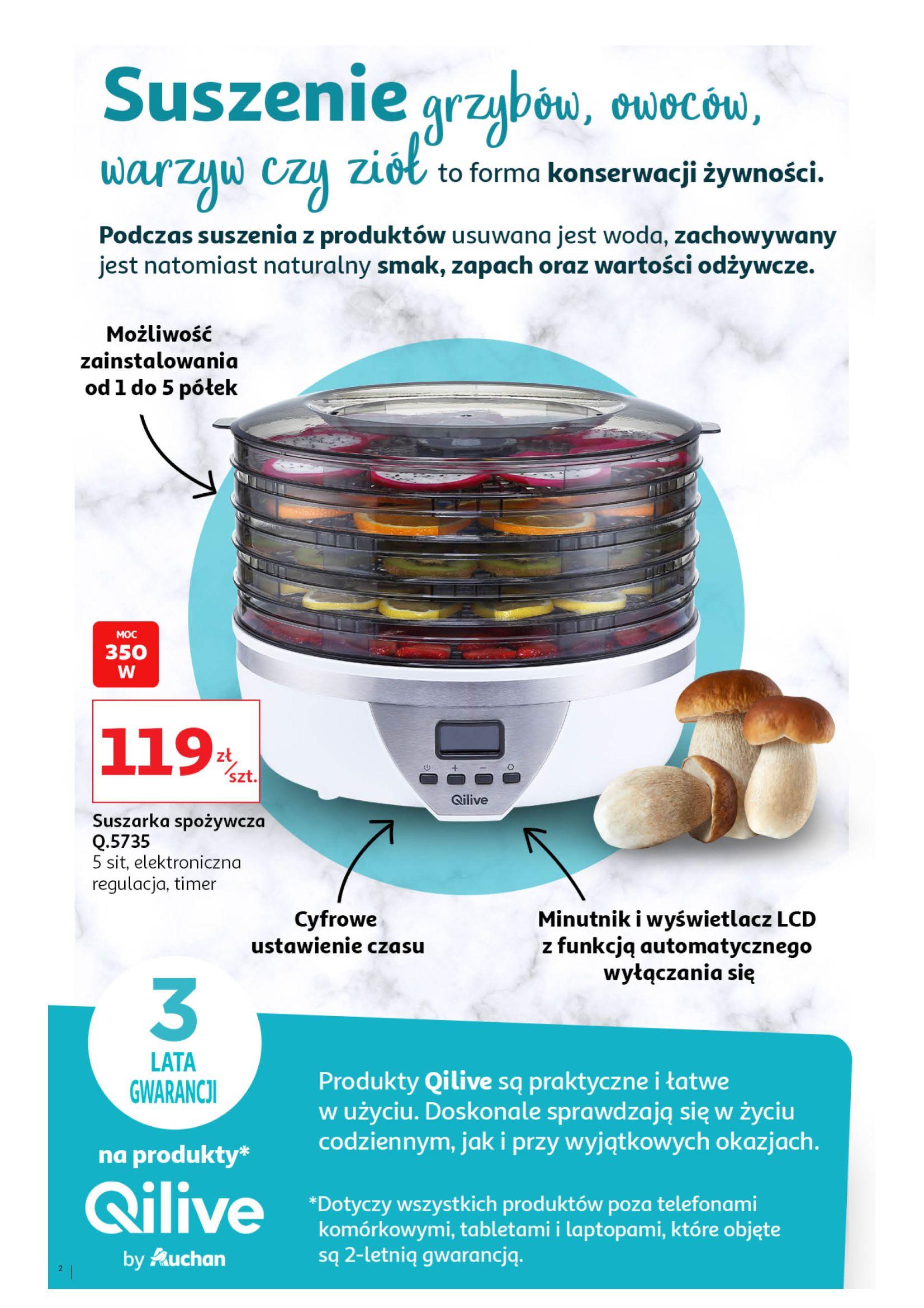 Gazetka Auchan - Suszarki do grzybów+przetwory Hipermarkety-29.07.2020-12.08.2020-page-2