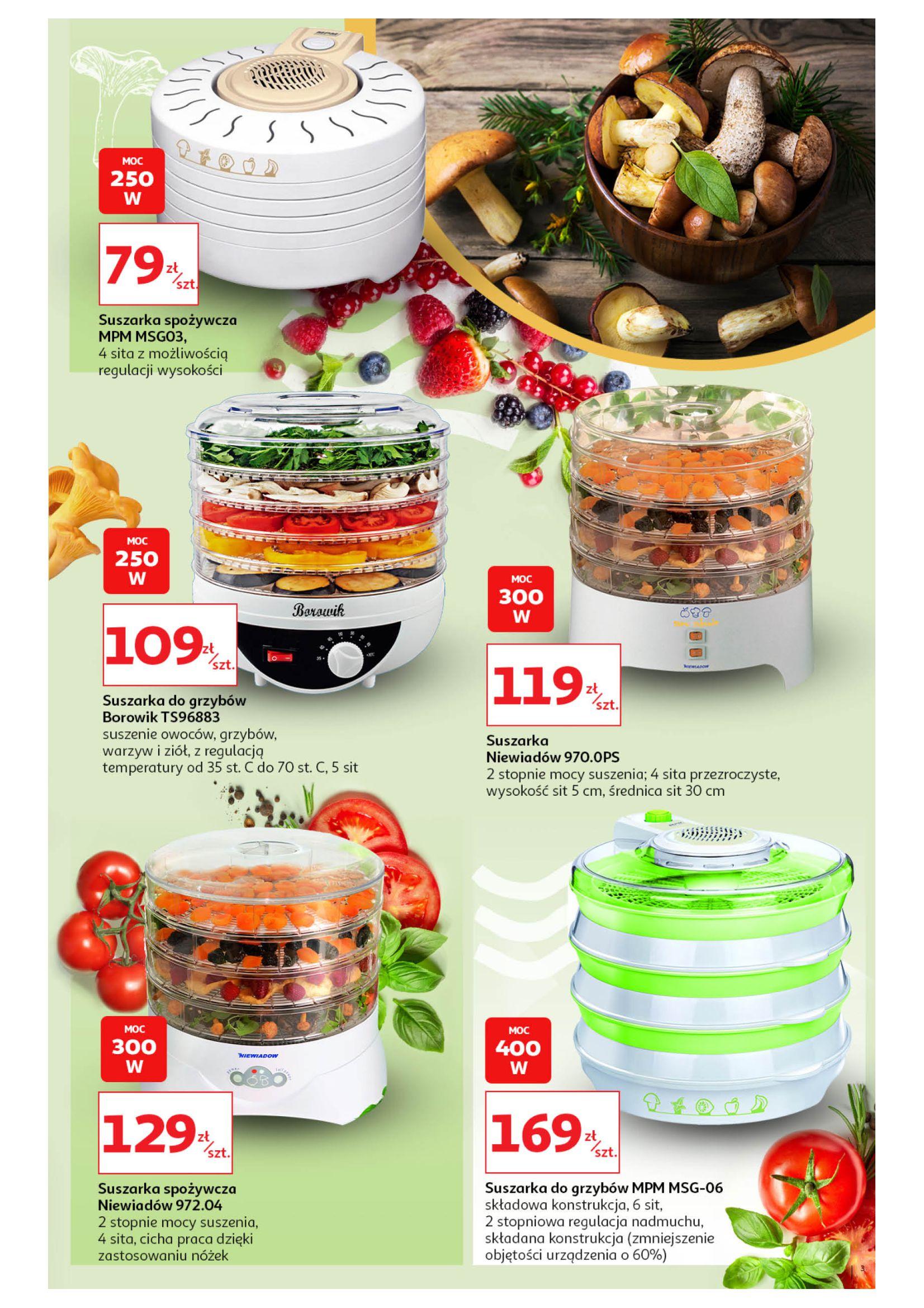 Gazetka Auchan - Suszarki do grzybów+przetwory Hipermarkety-29.07.2020-12.08.2020-page-3