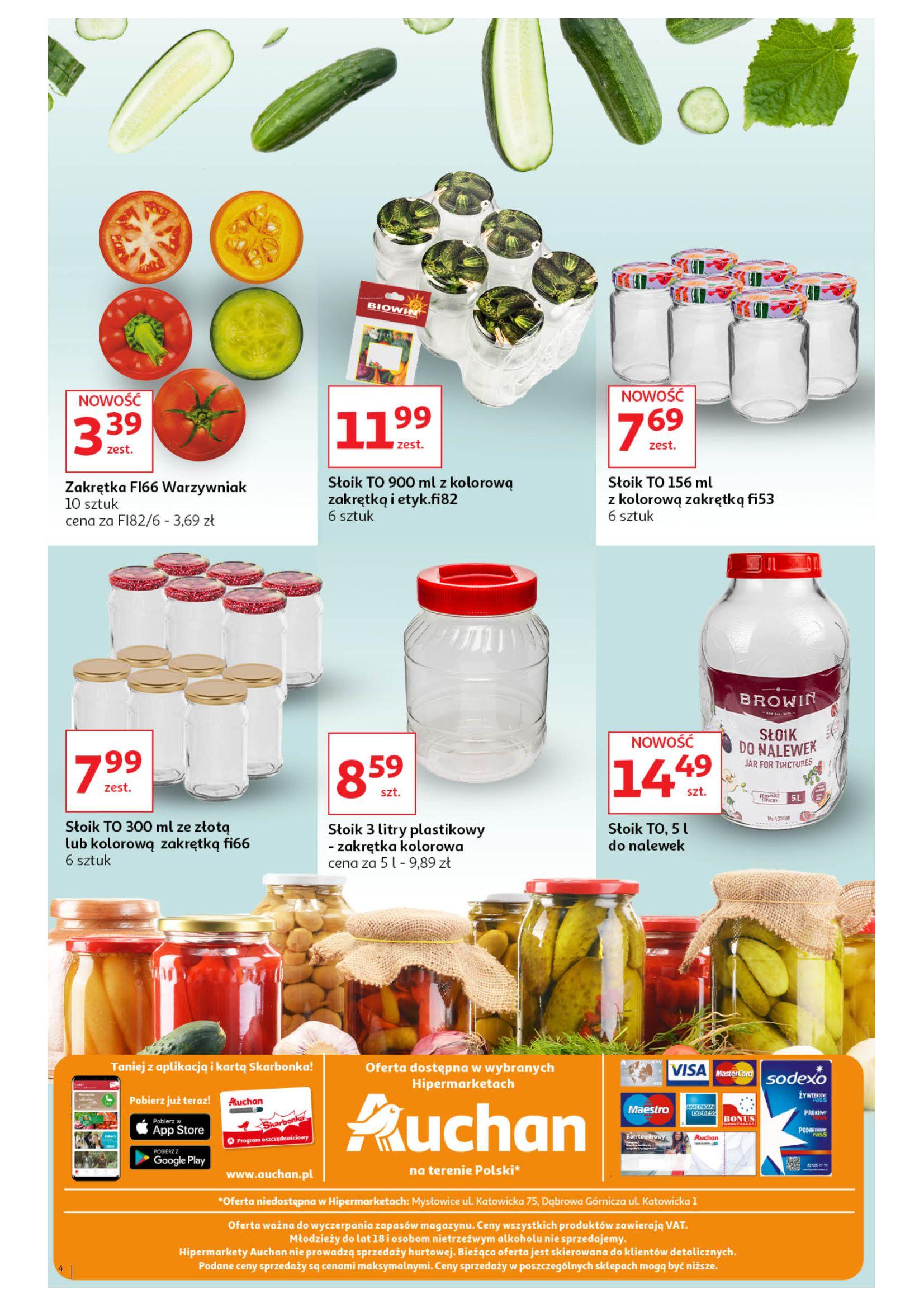 Gazetka Auchan - Suszarki do grzybów+przetwory Hipermarkety-29.07.2020-12.08.2020-page-4
