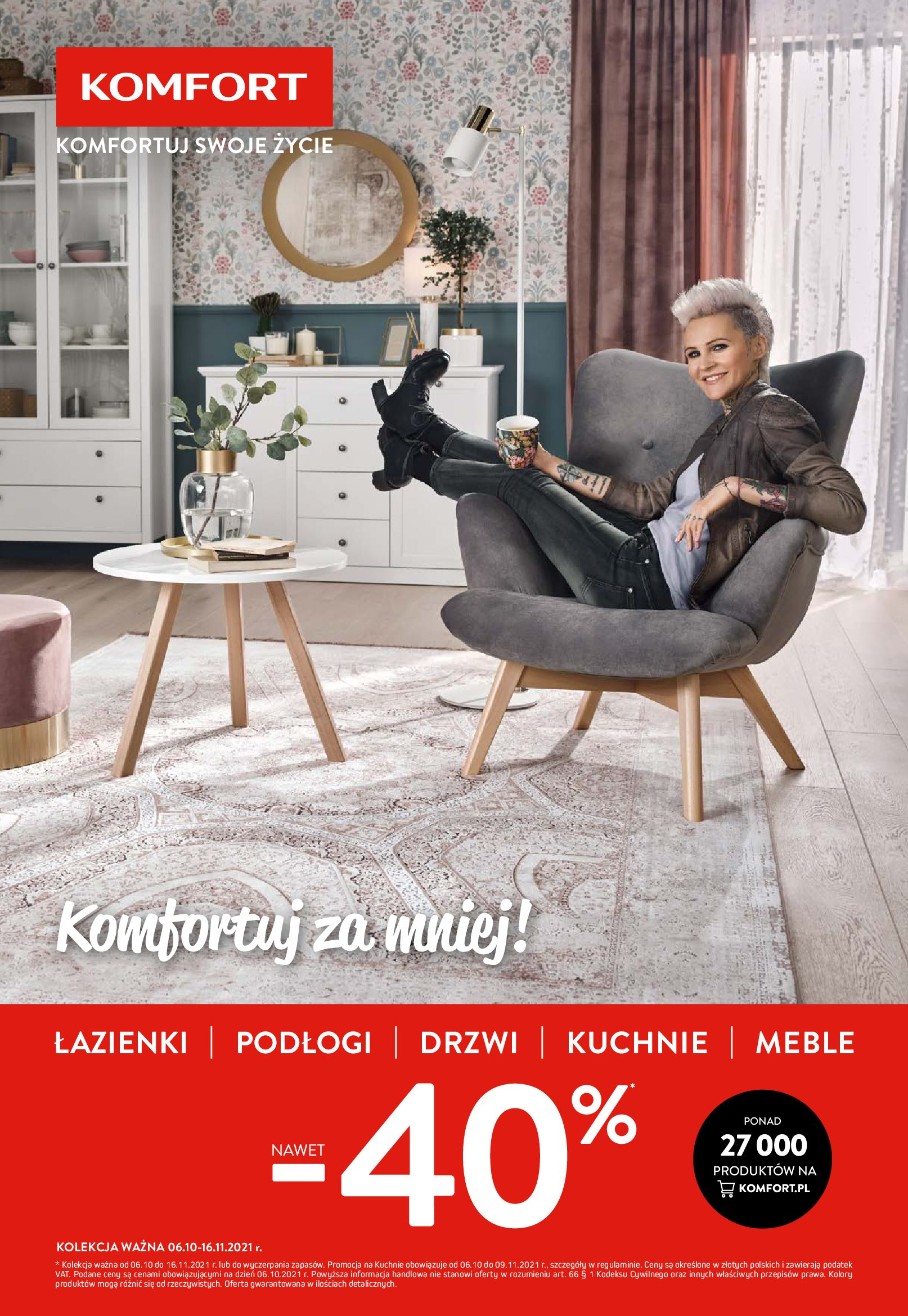 Komfort:  Gazetka komfort do 16.11. 05.10.2021