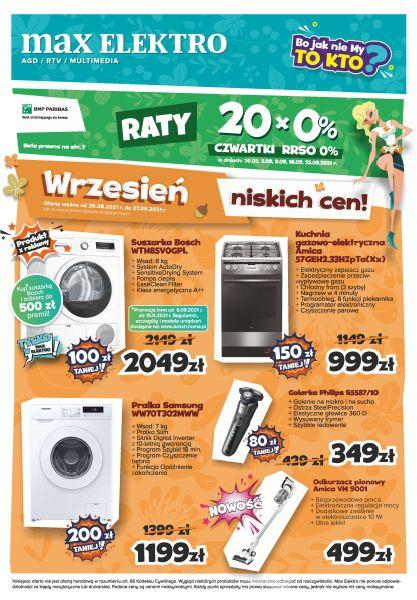 Gazetka Max Elektro.pl: Gazetka Max Elektro.pl 2021-08-26 page-1