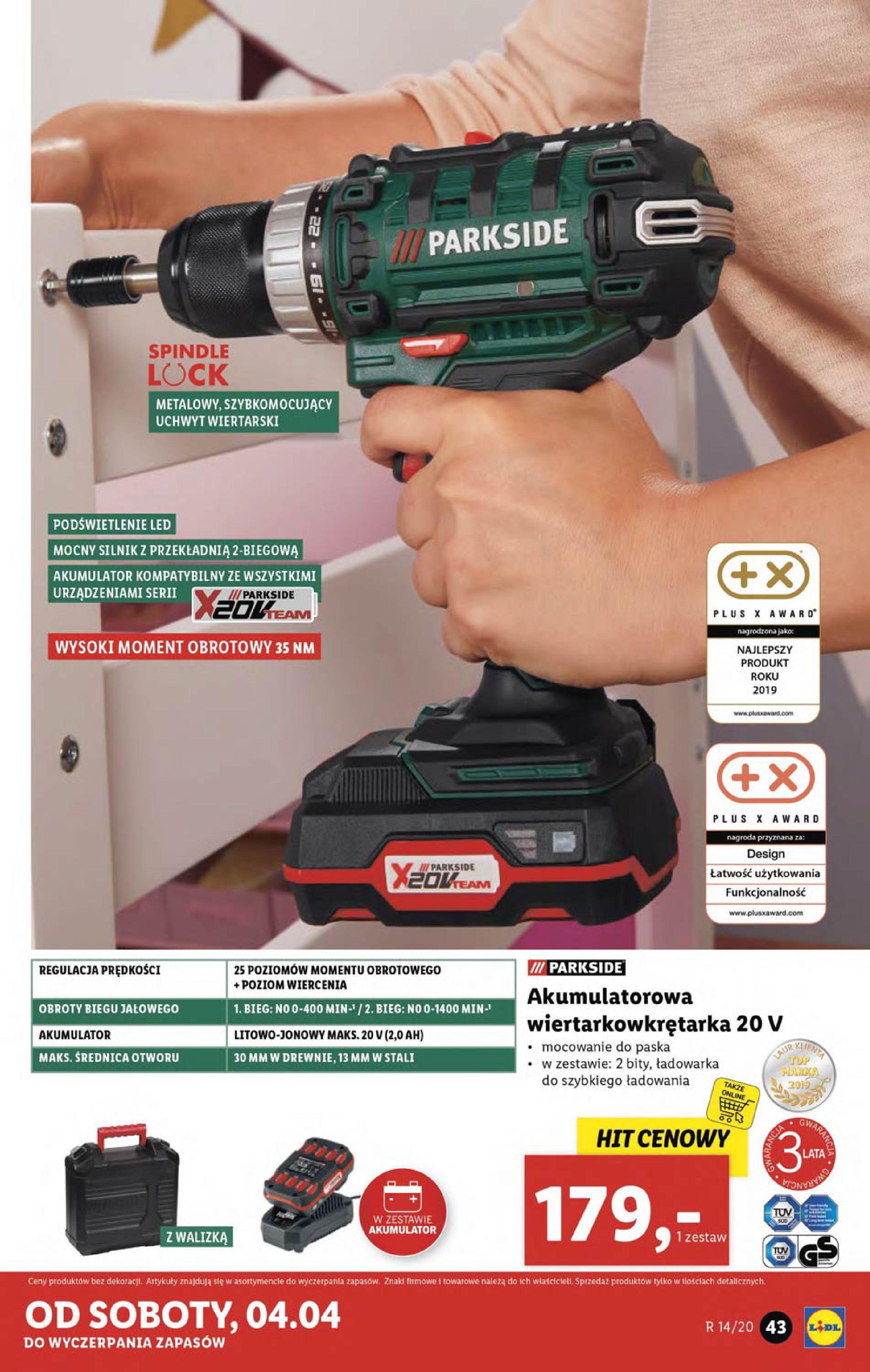 Gazetka Lidl - Katalog od poniedziałku 30.03-29.03.2020-05.04.2020-page-43