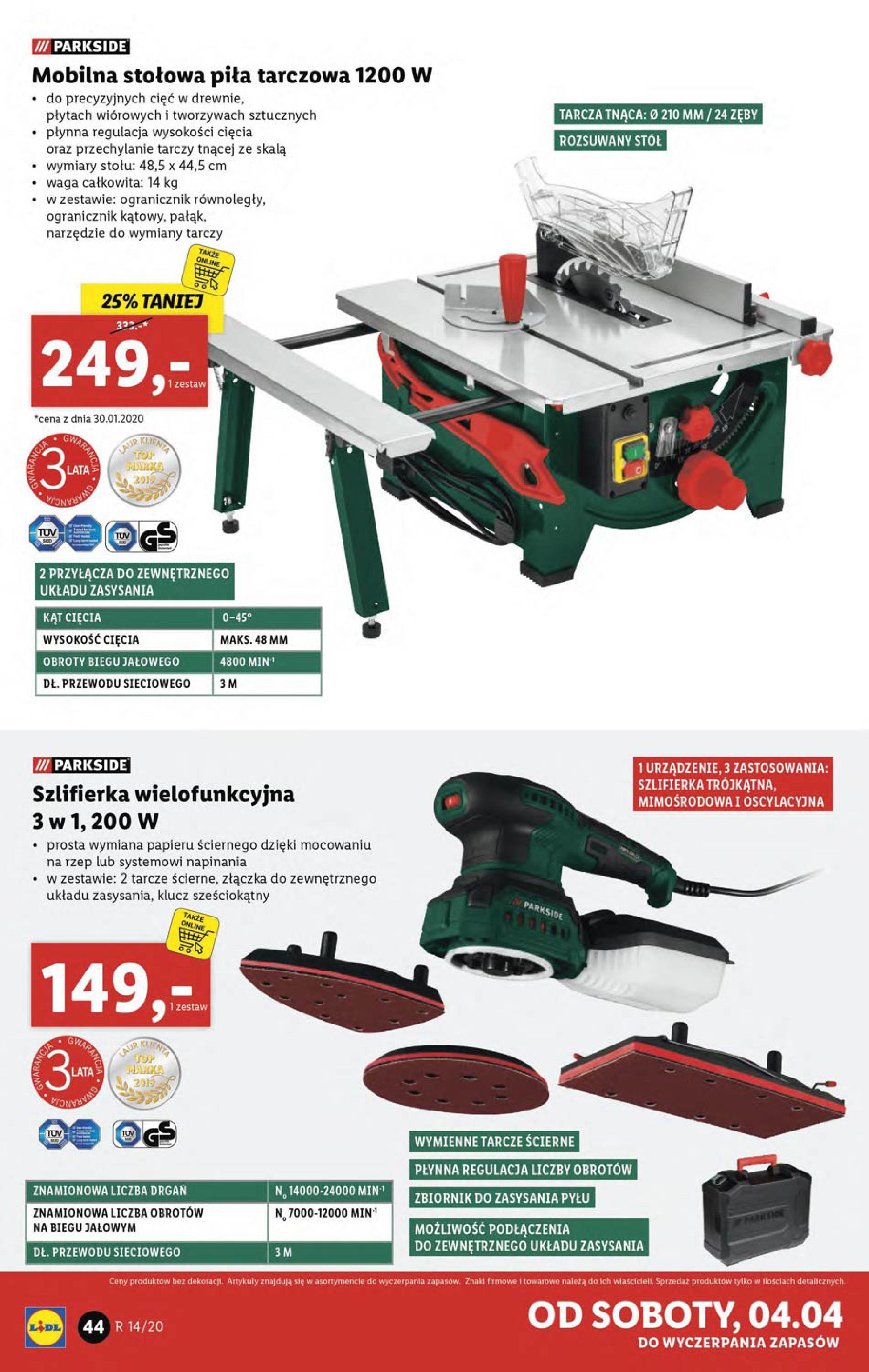 Gazetka Lidl - Katalog od poniedziałku 30.03-29.03.2020-05.04.2020-page-44