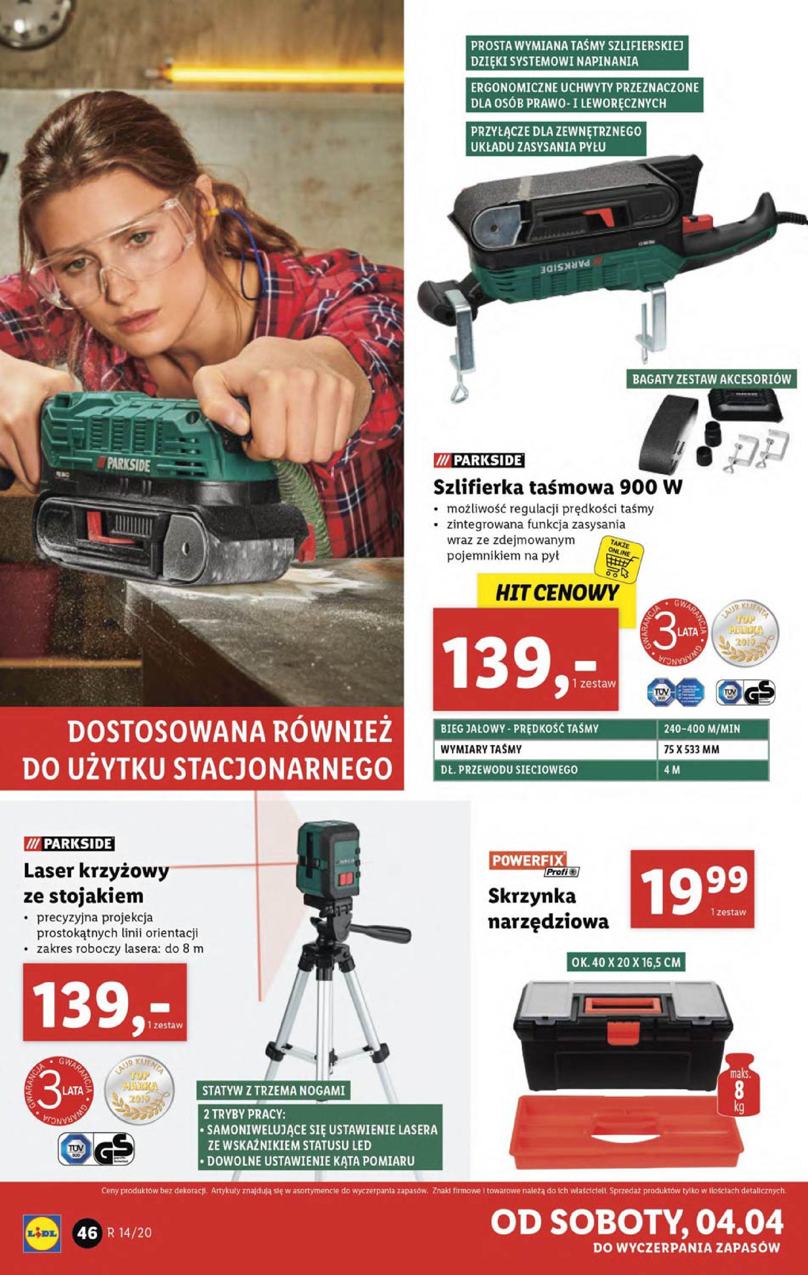 Gazetka Lidl - Katalog od poniedziałku 30.03-29.03.2020-05.04.2020-page-46