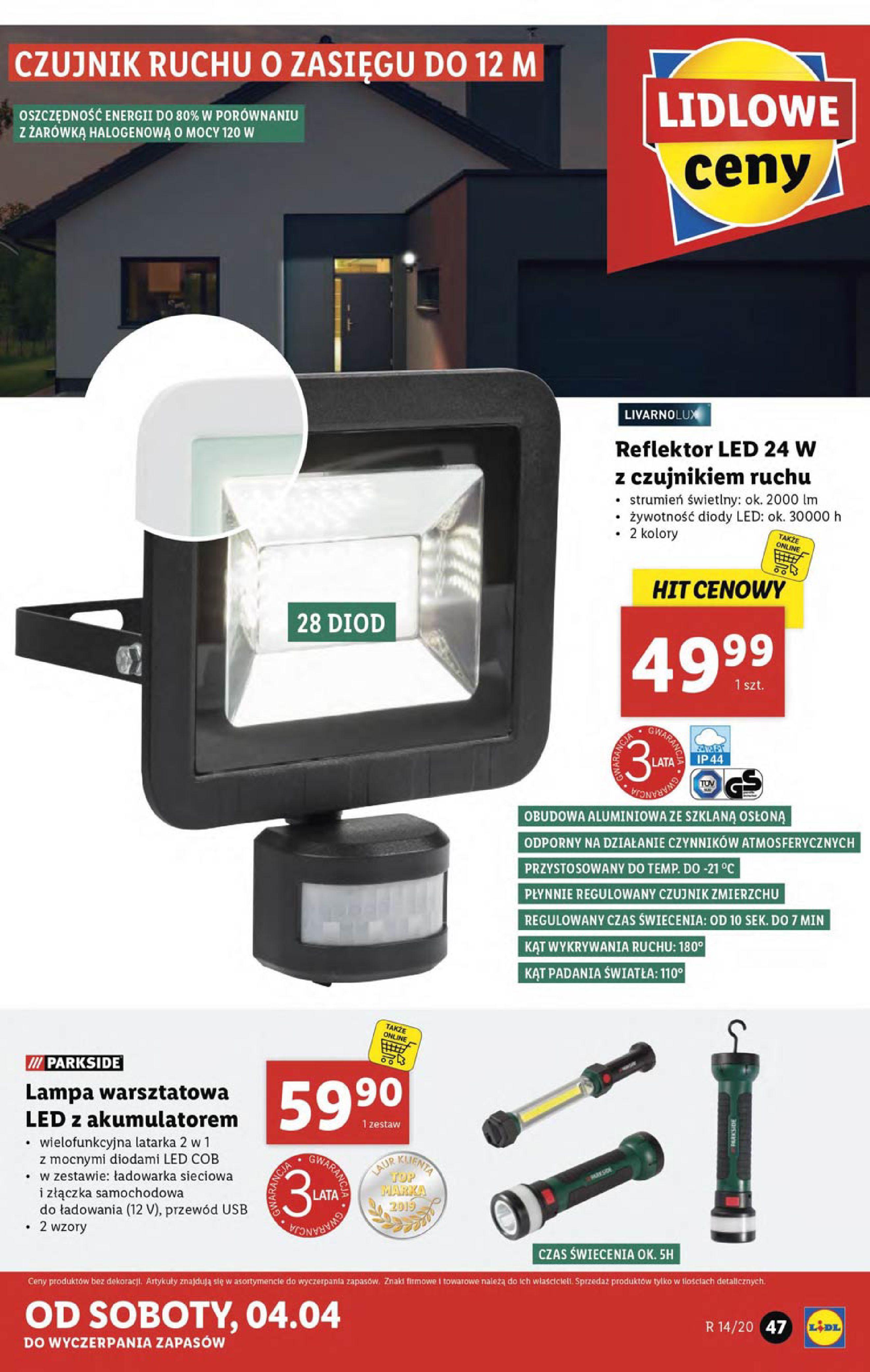 Gazetka Lidl - Katalog od poniedziałku 30.03-29.03.2020-05.04.2020-page-47