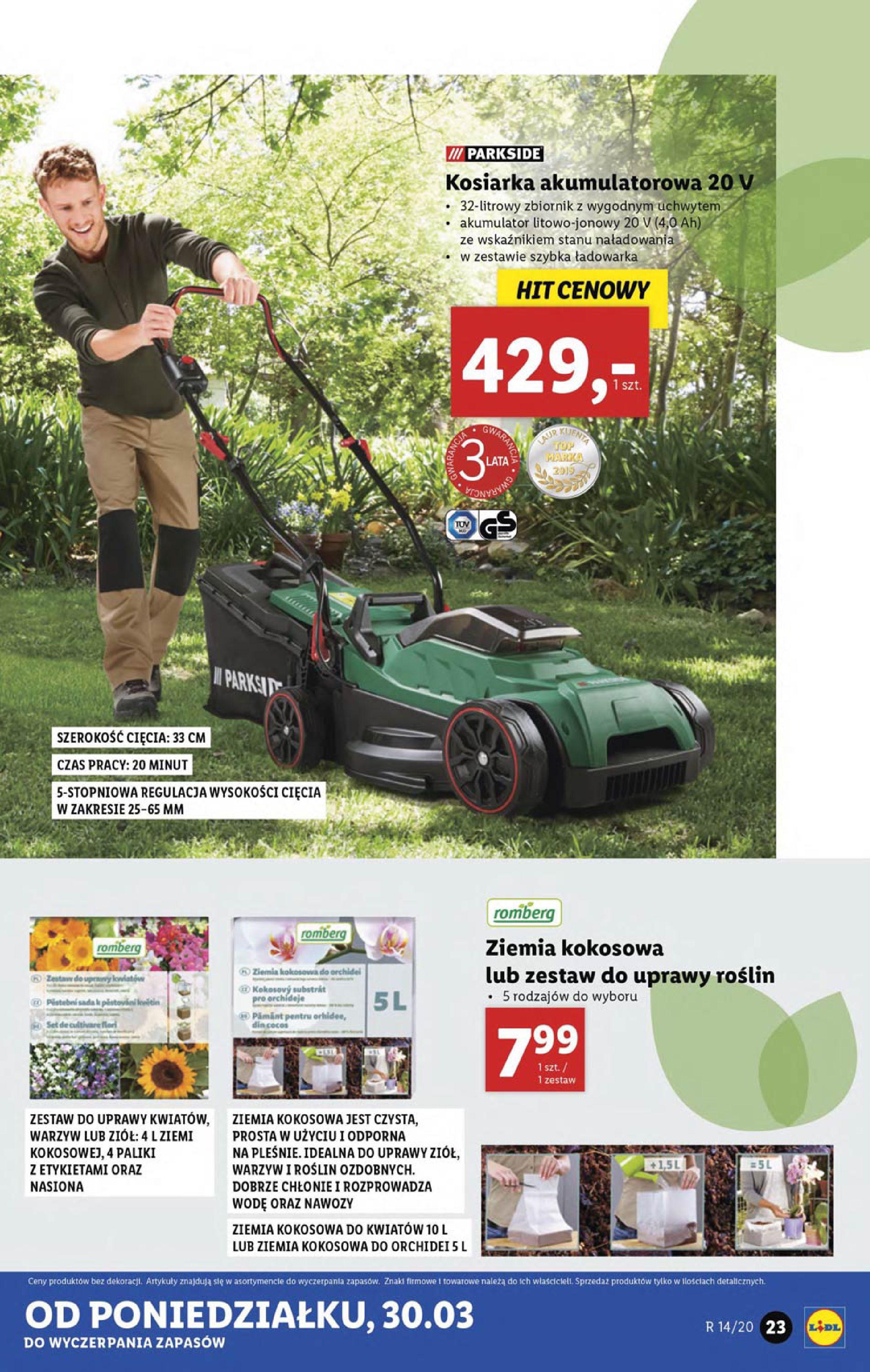 Gazetka Lidl - Katalog od poniedziałku 30.03-29.03.2020-05.04.2020-page-23