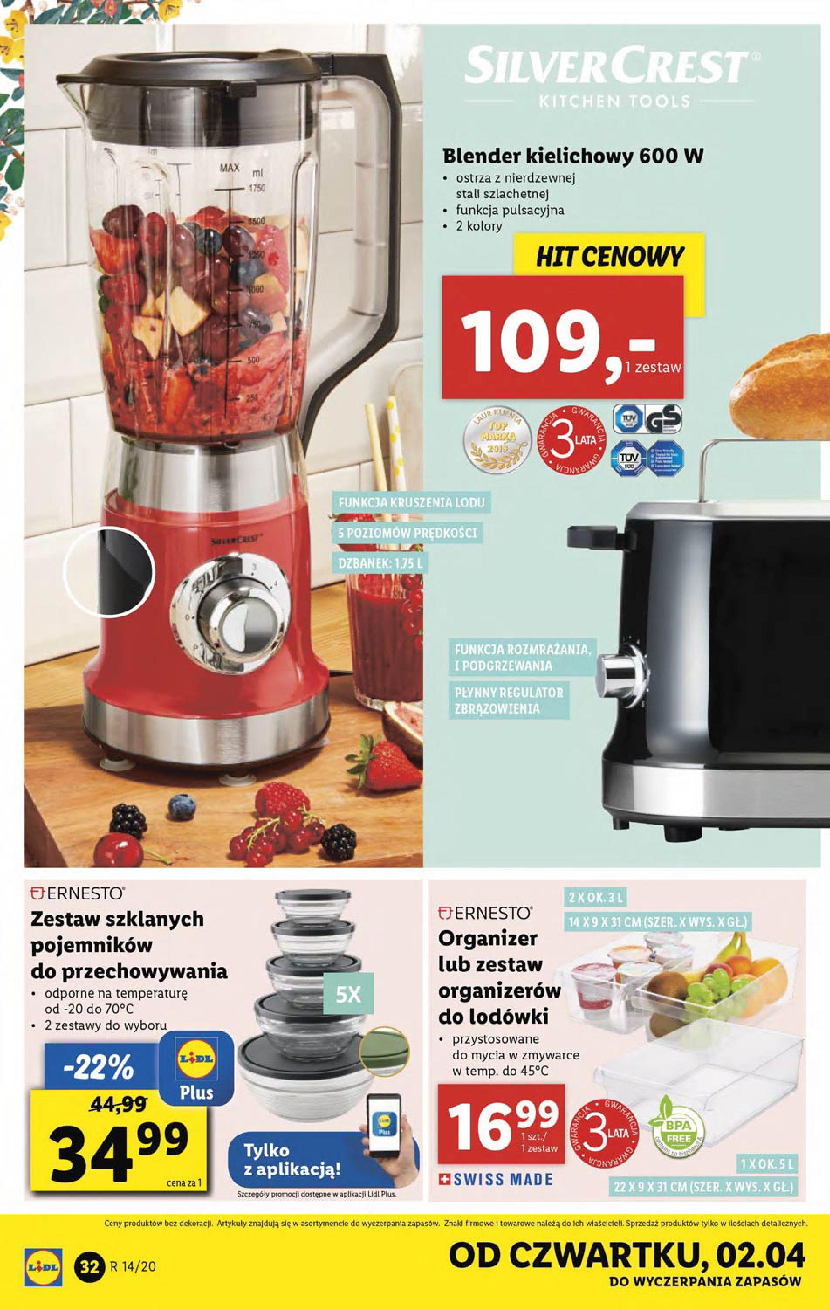 Gazetka Lidl - Katalog od poniedziałku 30.03-29.03.2020-05.04.2020-page-32