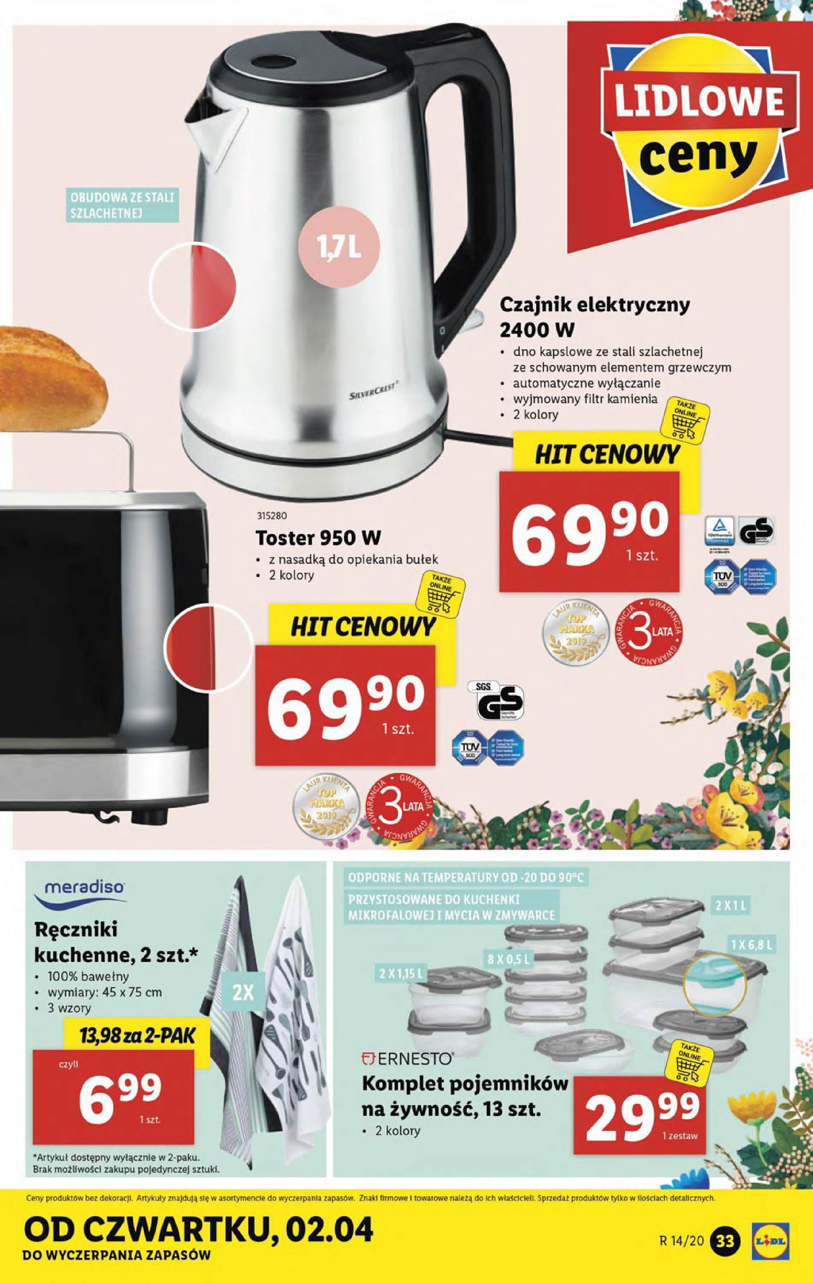 Gazetka Lidl - Katalog od poniedziałku 30.03-29.03.2020-05.04.2020-page-33