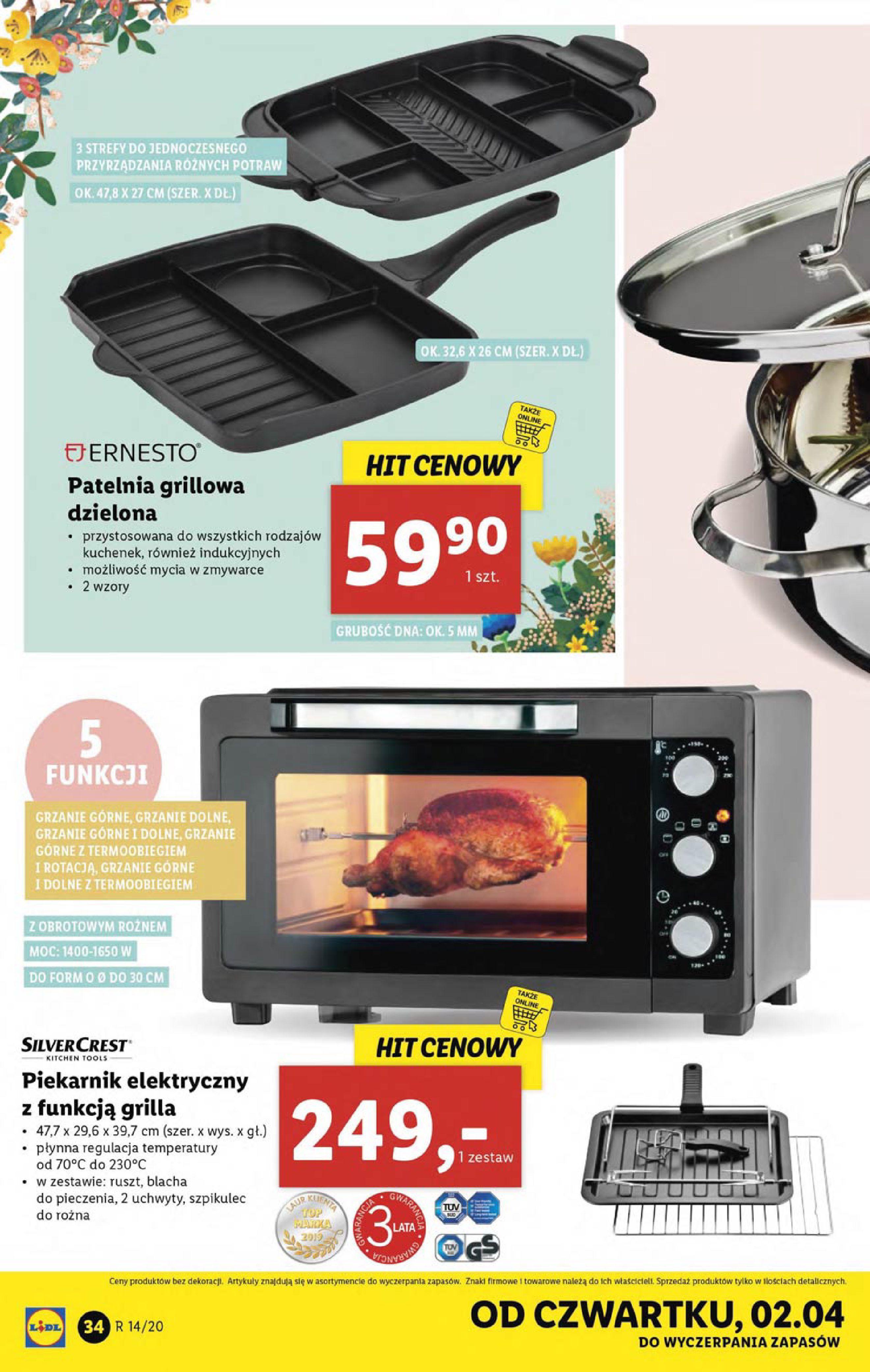 Gazetka Lidl - Katalog od poniedziałku 30.03-29.03.2020-05.04.2020-page-34