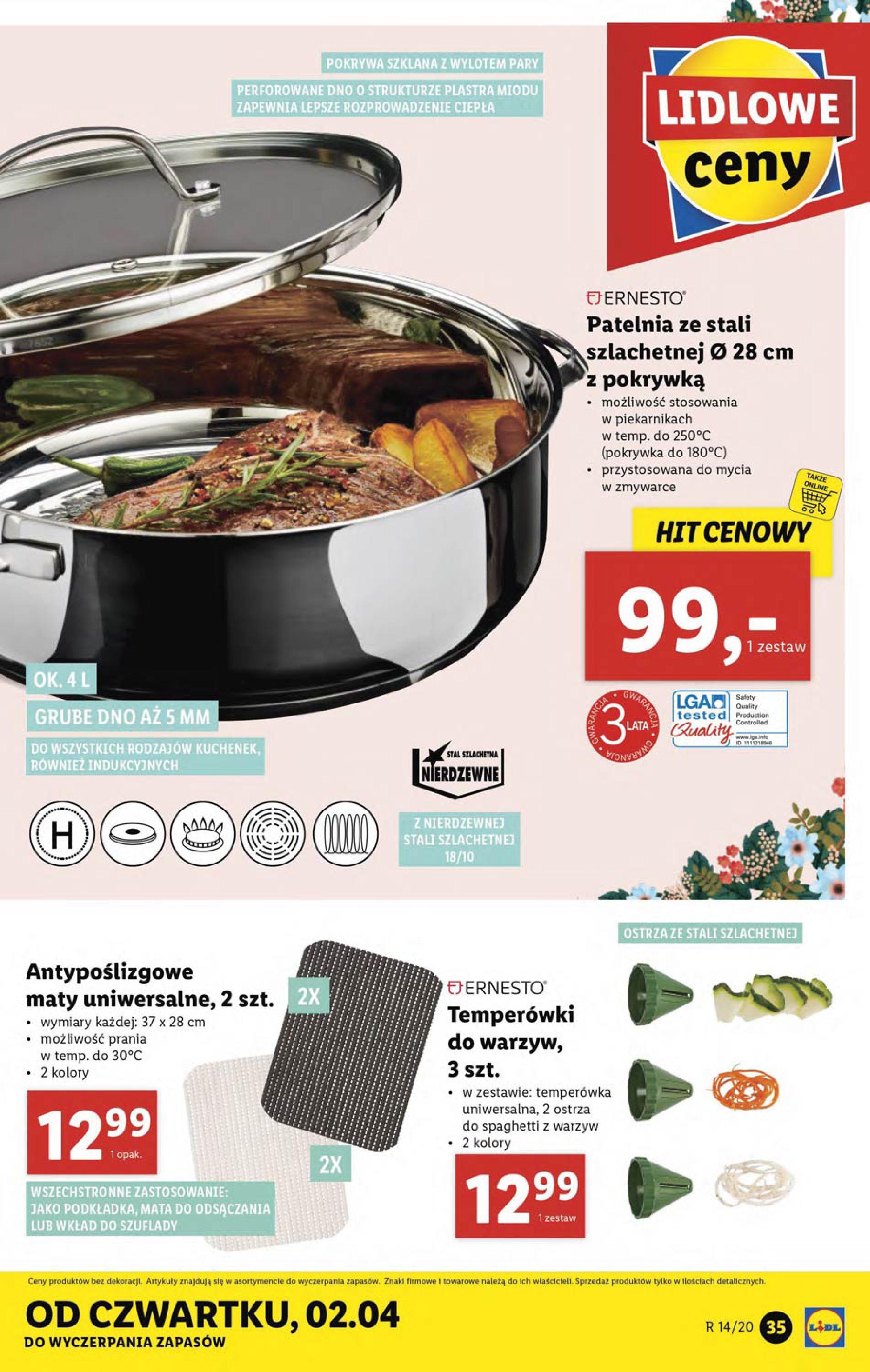 Gazetka Lidl - Katalog od poniedziałku 30.03-29.03.2020-05.04.2020-page-35