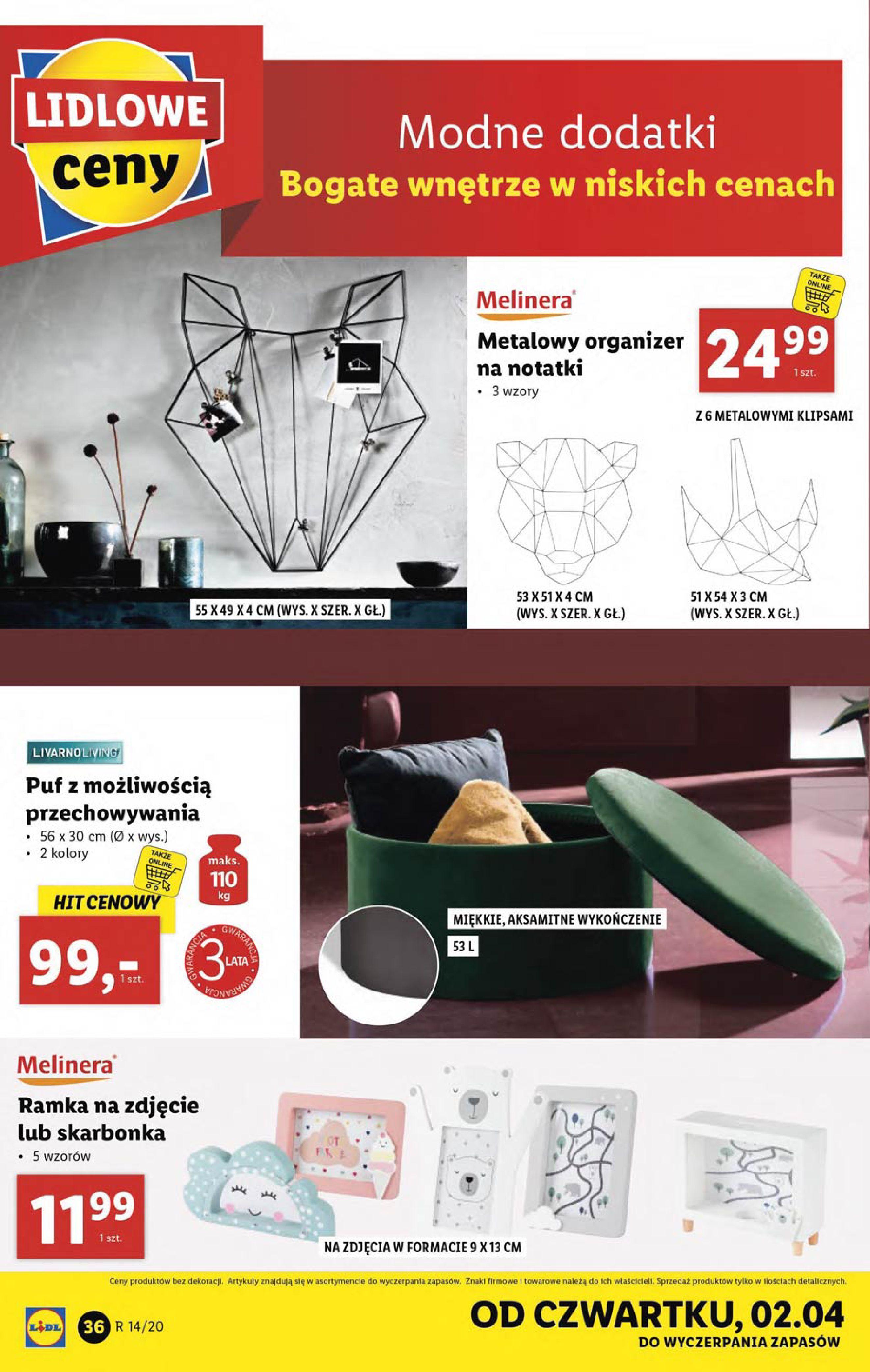 Gazetka Lidl - Katalog od poniedziałku 30.03-29.03.2020-05.04.2020-page-36