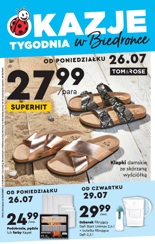 Biedronka:  Gazetka Biedronka - Okazje tygodnia od 26.07 25.07.2021