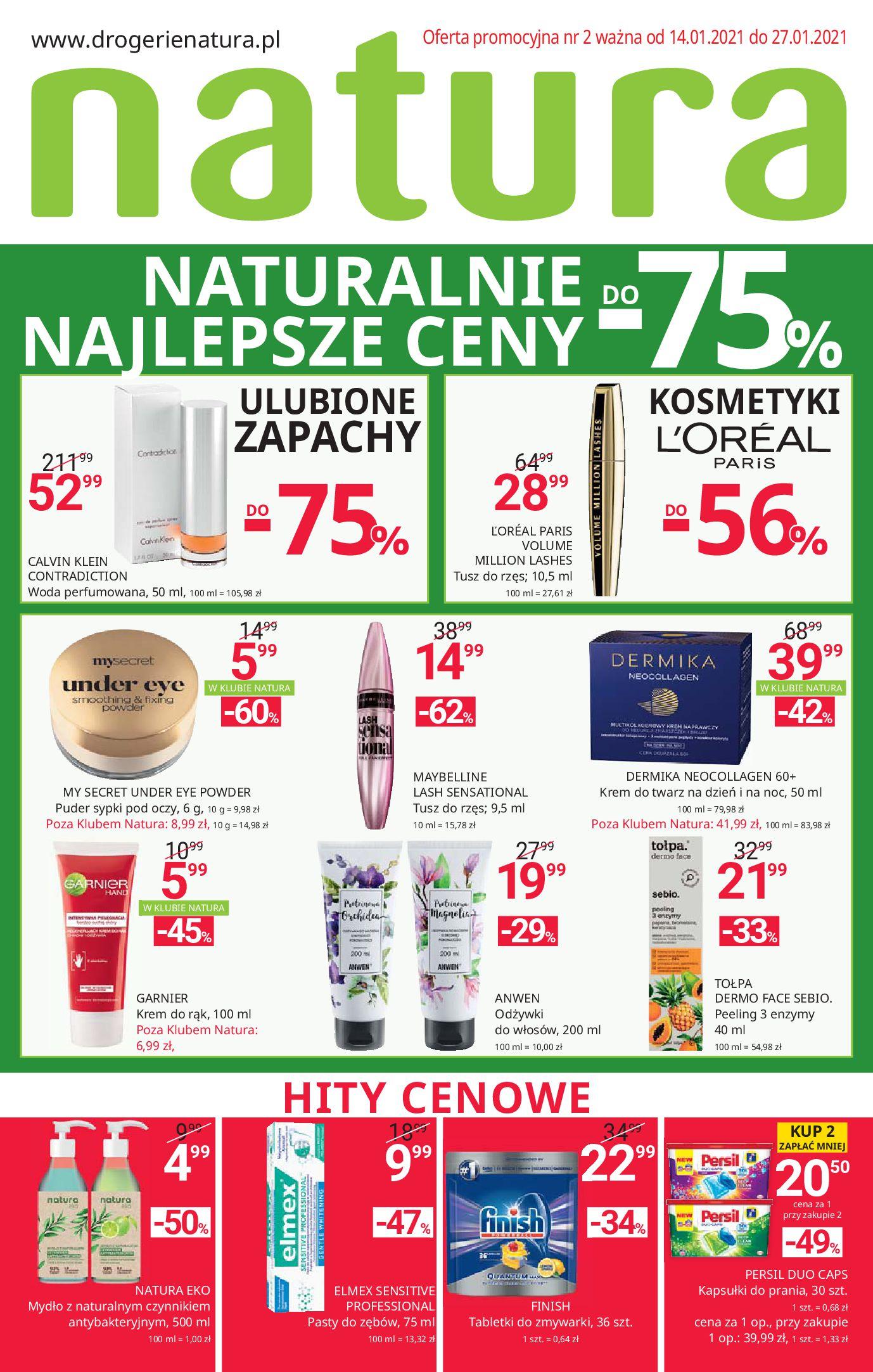 Drogerie Natura:  Gazetka promocyjna od 14.01 13.01.2021