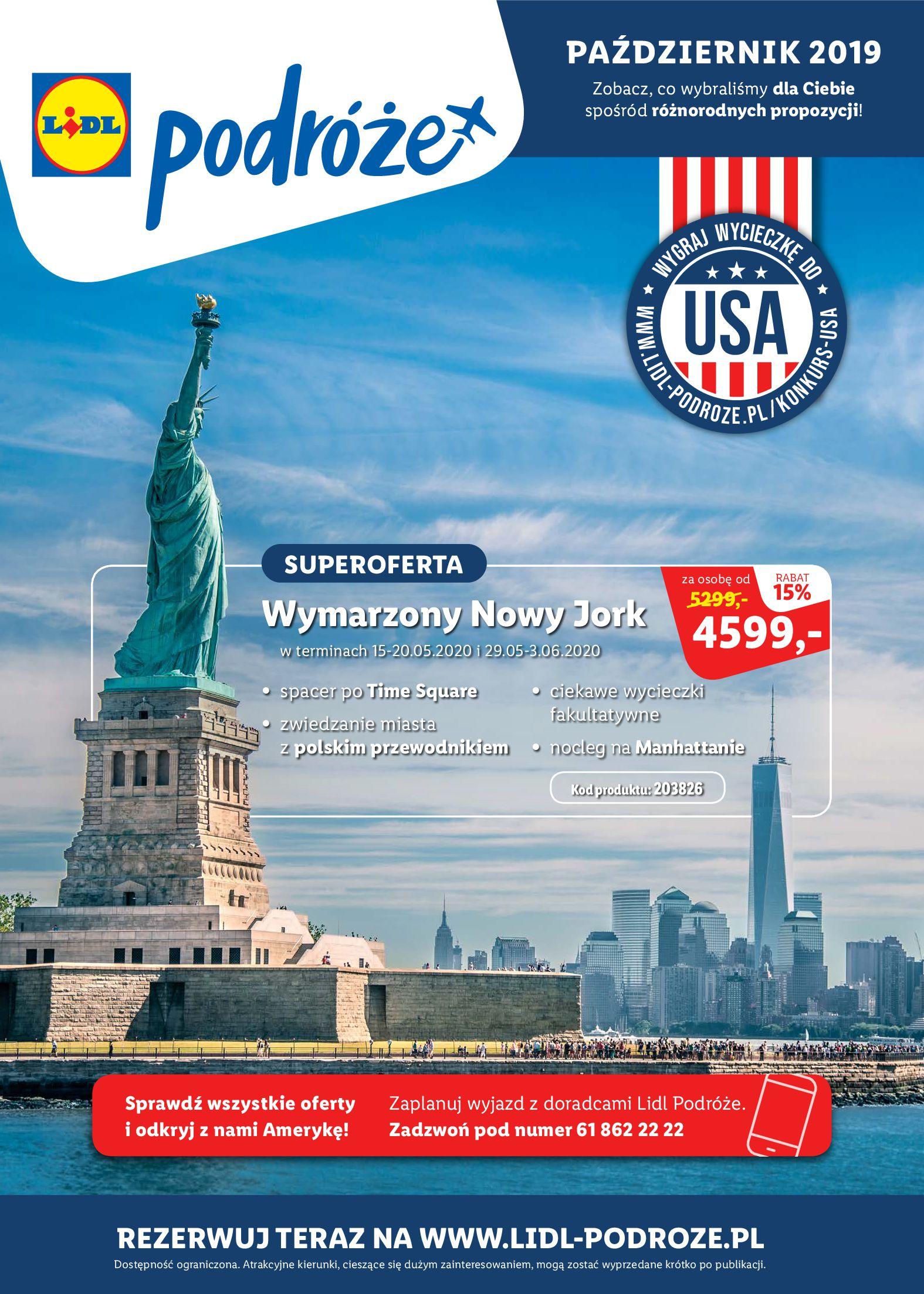 Gazetka Lidl - Katalog podróże-13.10.2019-16.11.2019-page-1