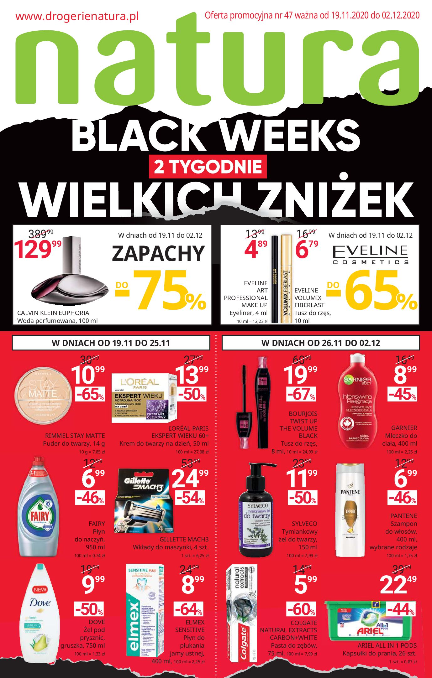 Drogerie Natura:  Black Weeks 18.11.2020