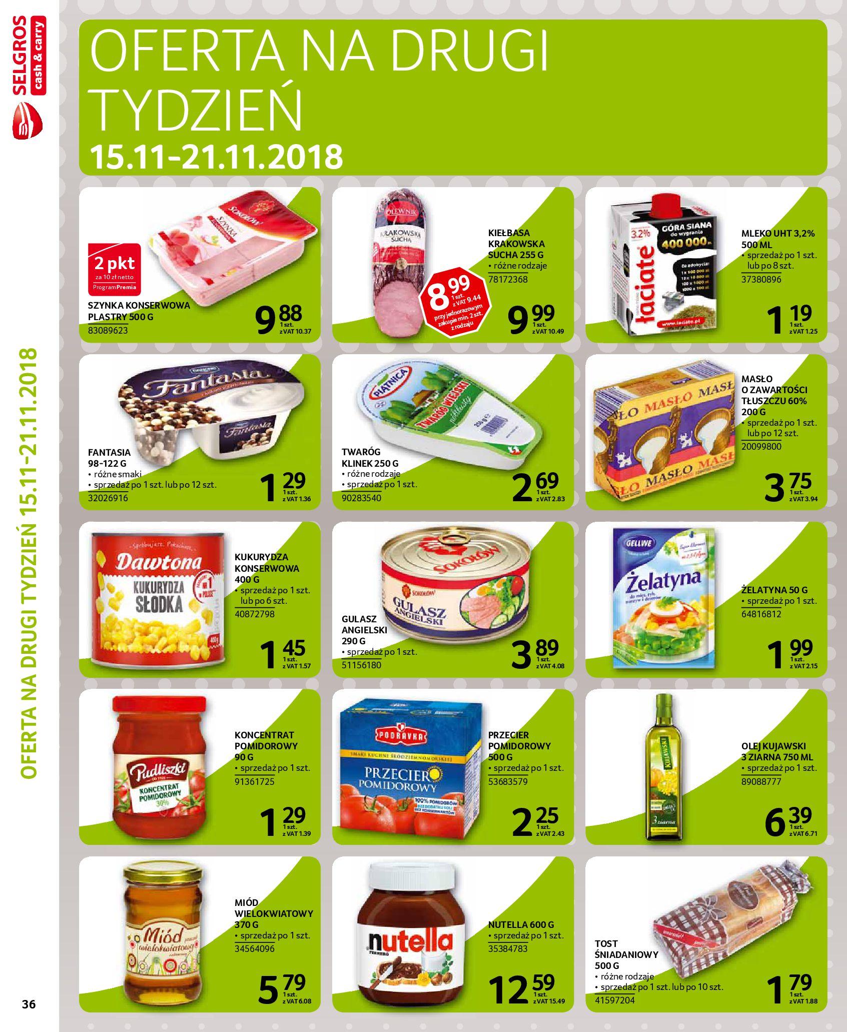 Gazetka Selgros - Oferta na art. spożywcze i chemię gospodarczą-06.11.2018-21.11.2018-page-