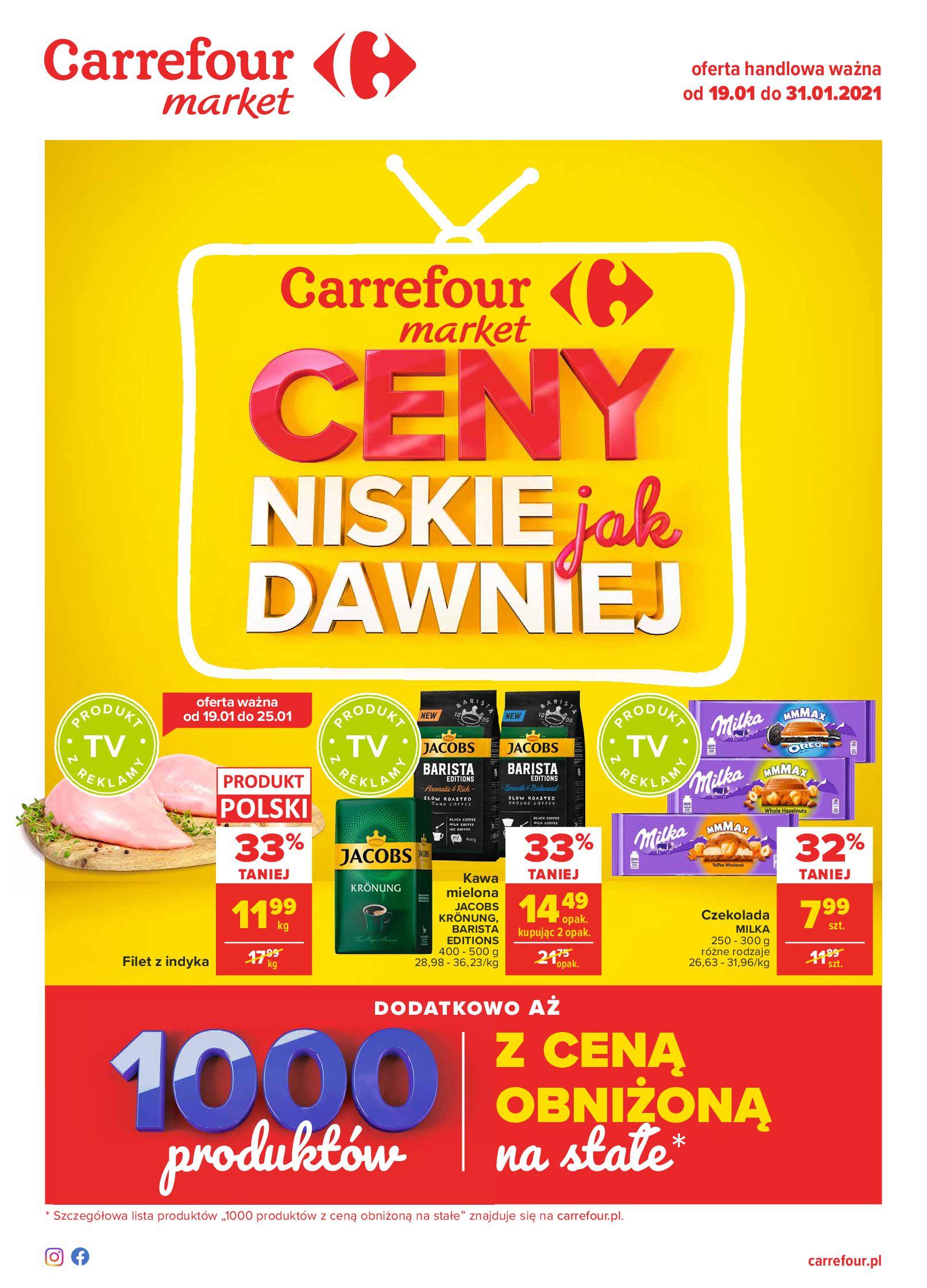Carrefour Market:  Ceny niskie jak dawniej - Market 18.01.2021