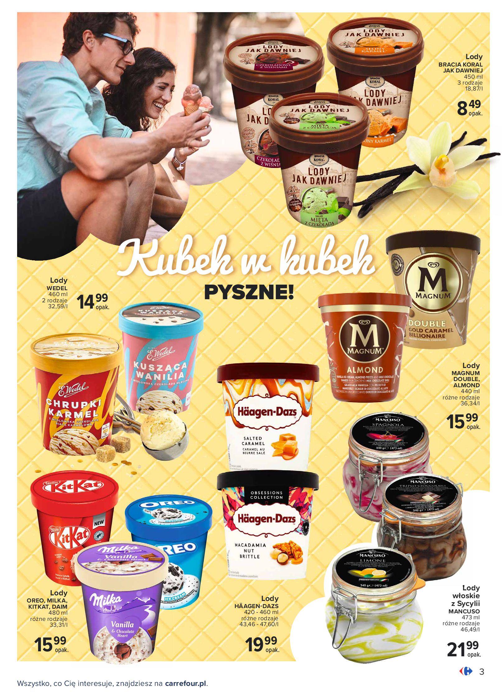 Gazetka Carrefour: Gazetka Carrefour - Wielki wybór lodów 2021-05-25 page-3