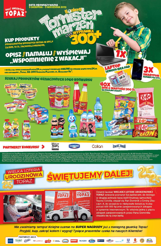 Gazetka TOPAZ - Oferta na art. spożywcze-08.08.2018-22.08.2018-page-