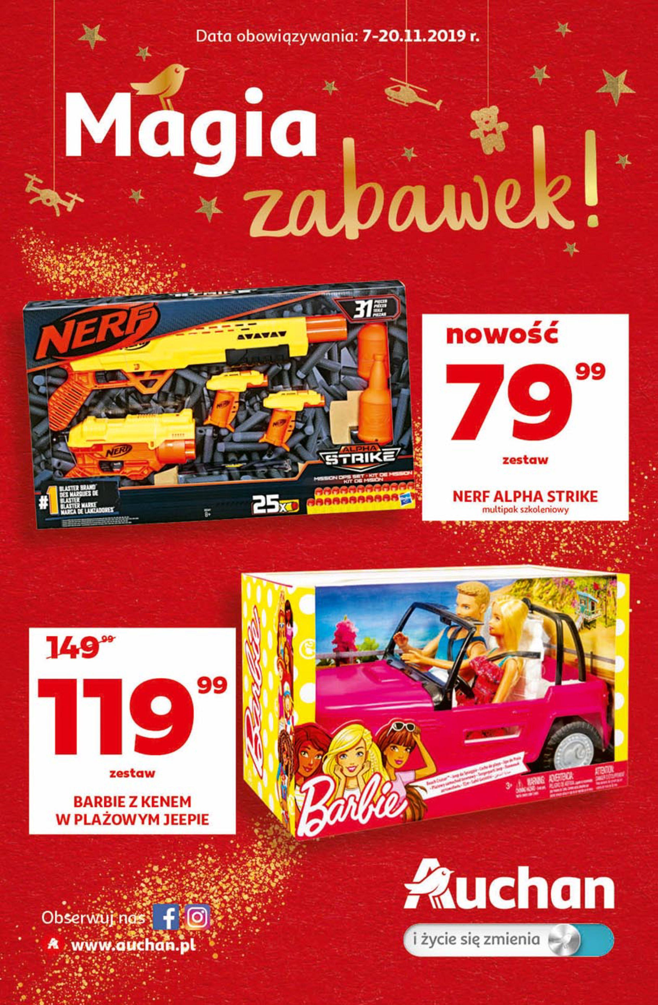 Gazetka Auchan - Magia zabawek Hipermarkety-06.11.2019-20.11.2019-page-1