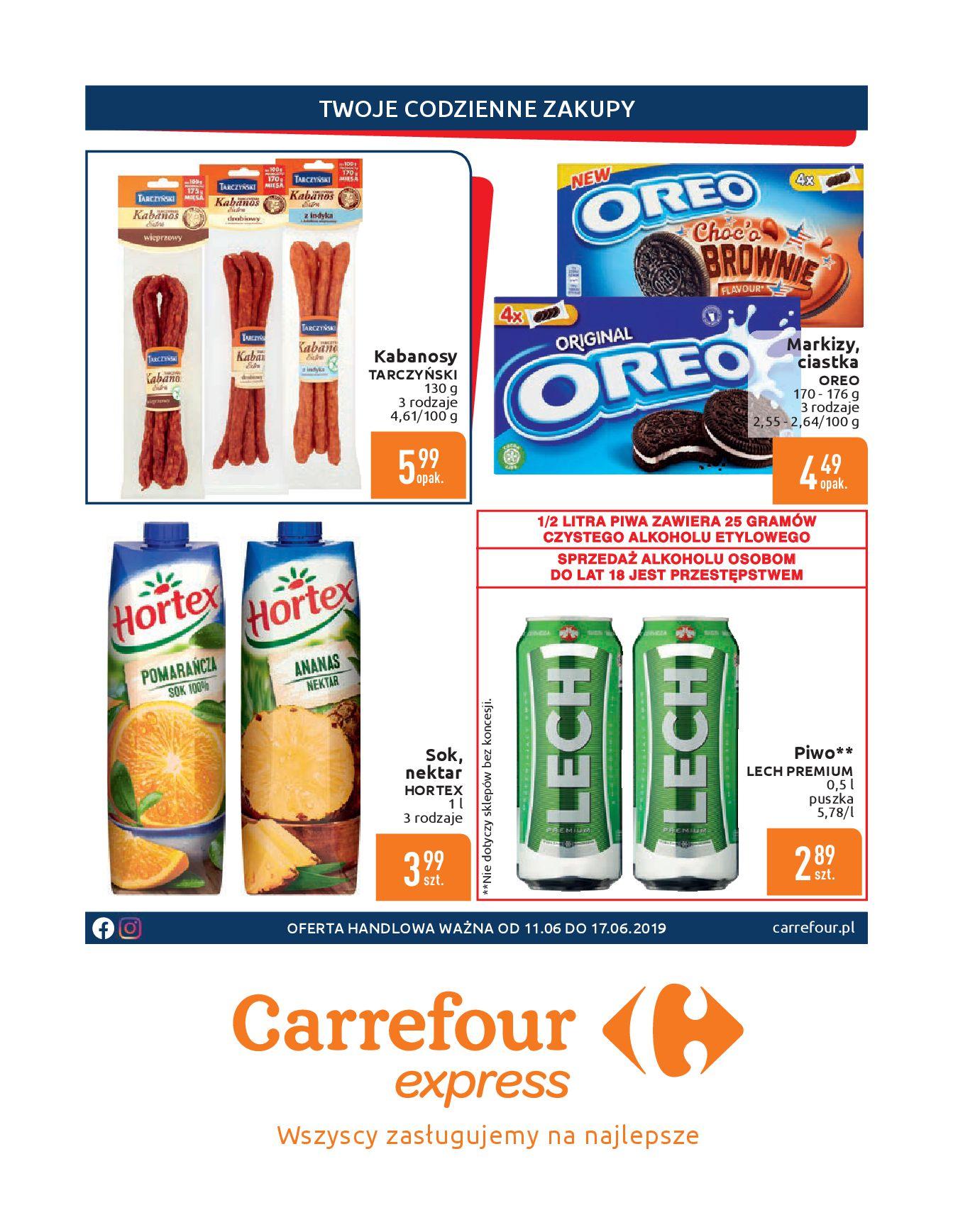 Gazetka Carrefour Express - Gdy zakupy rosną, to ceny maleją ekspresowo-10.06.2019-17.06.2019-page-