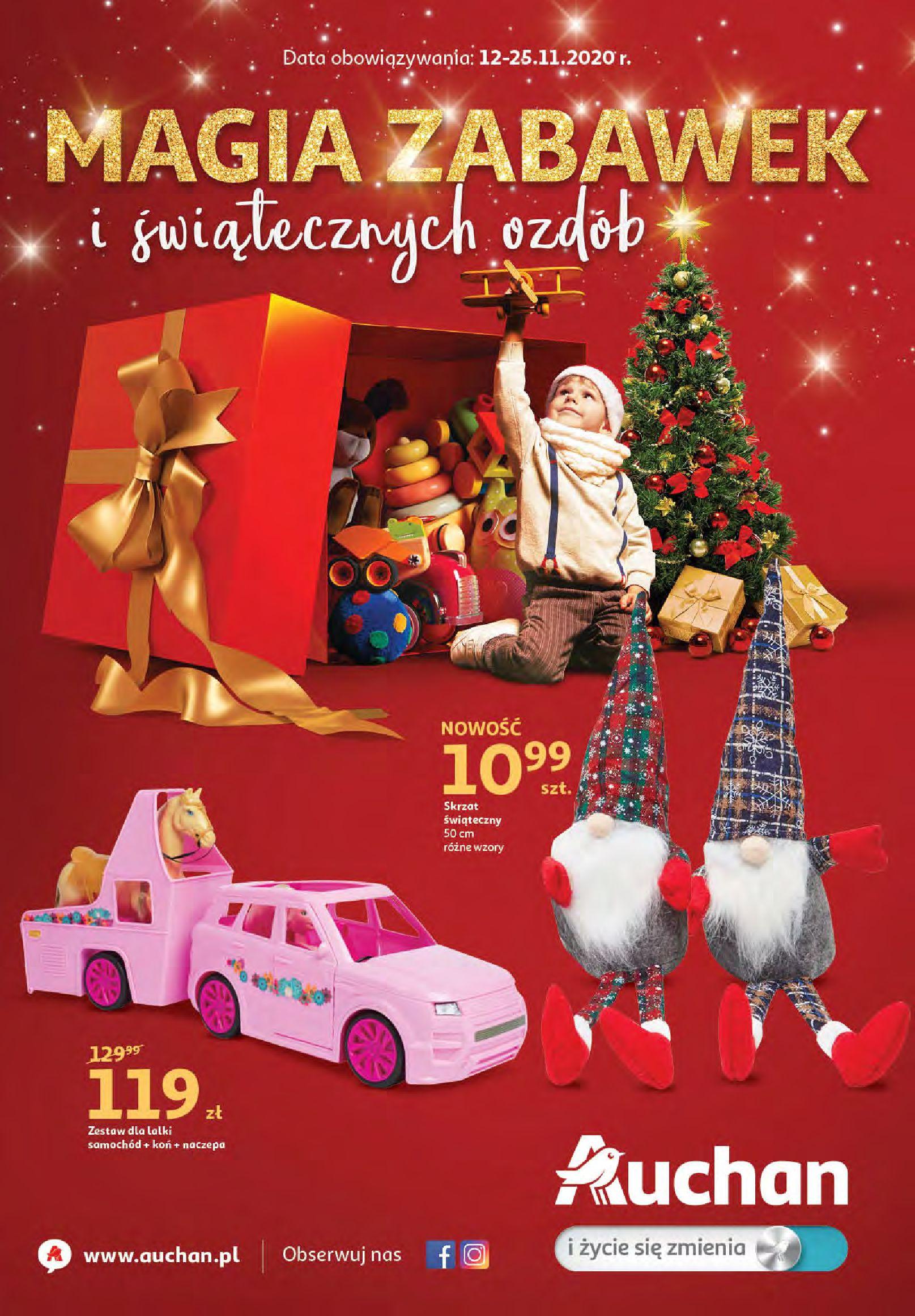 Gazetka Auchan - Magia zabawek i świątecznych ozdób-11.11.2020-25.11.2020-page-1