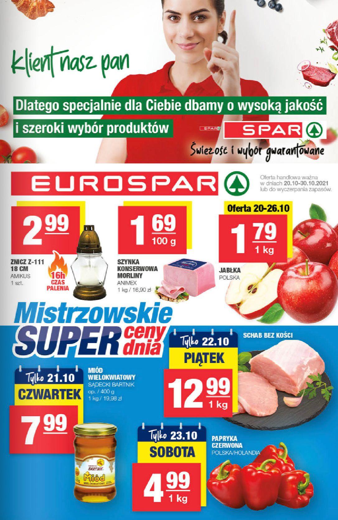 Spar:  Gazetka EUROSpar 19.10.2021