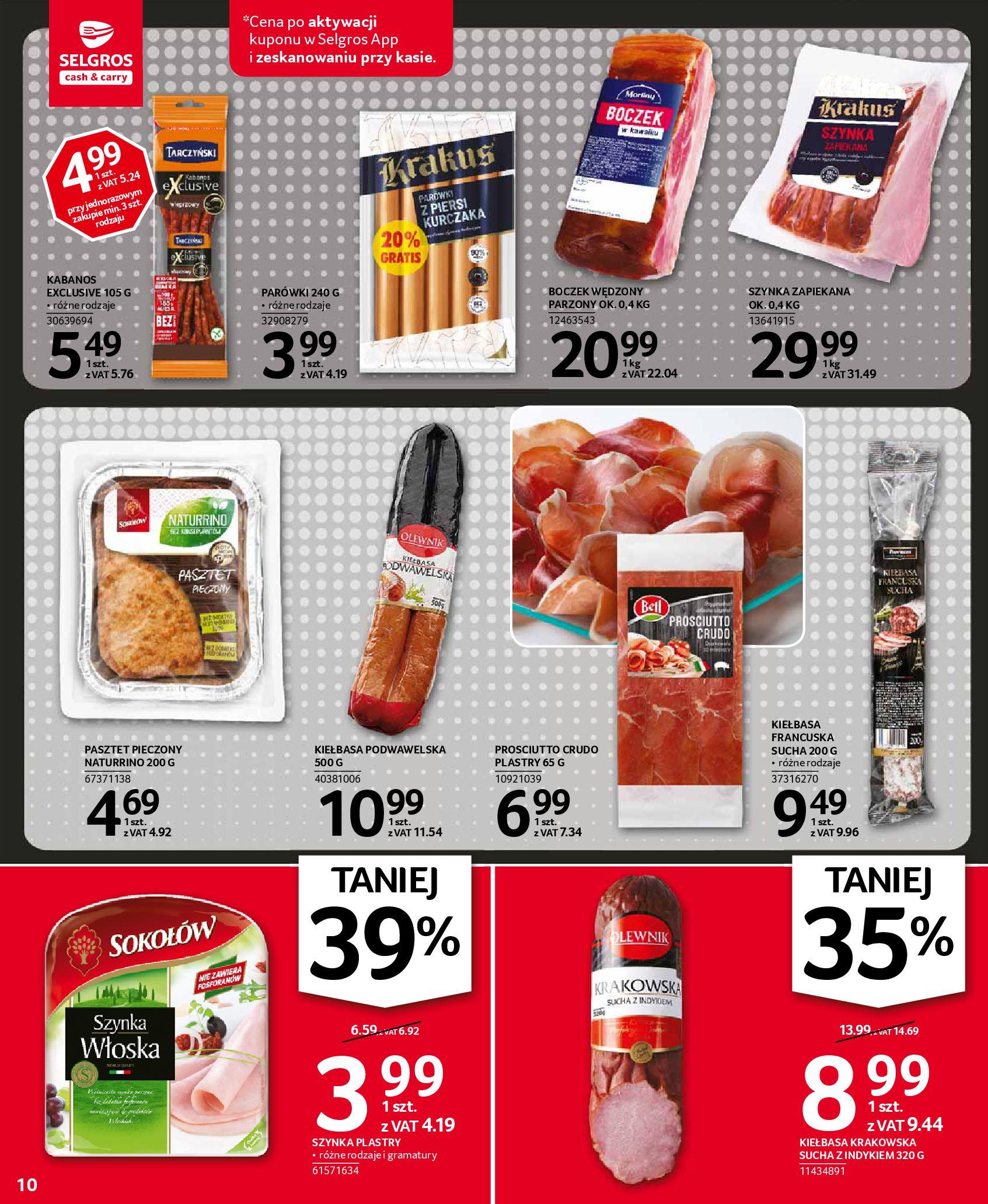Gazetka Selgros: Oferta spożywcza 2021-01-07 page-10